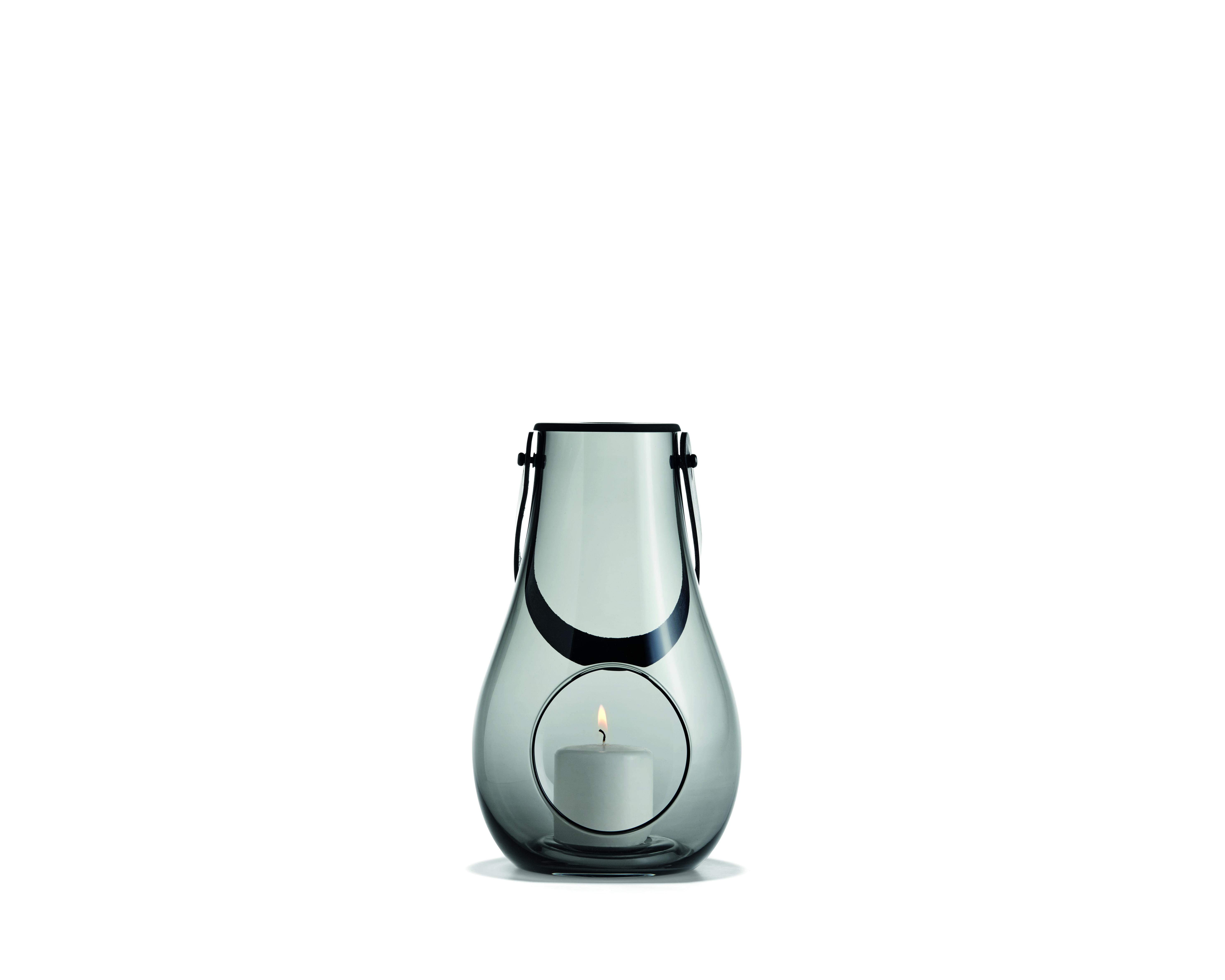 Holmegaard Design with light lanterne, 25 cm, smoke