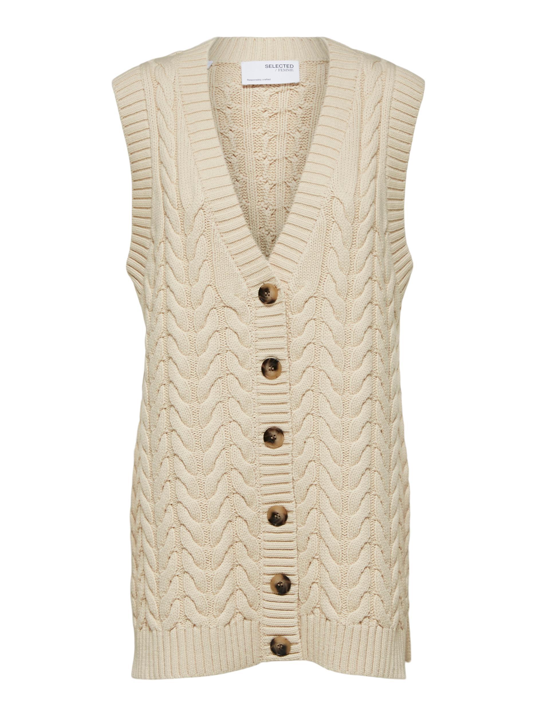 Selected Femme Sella cardigan, sandshell, large