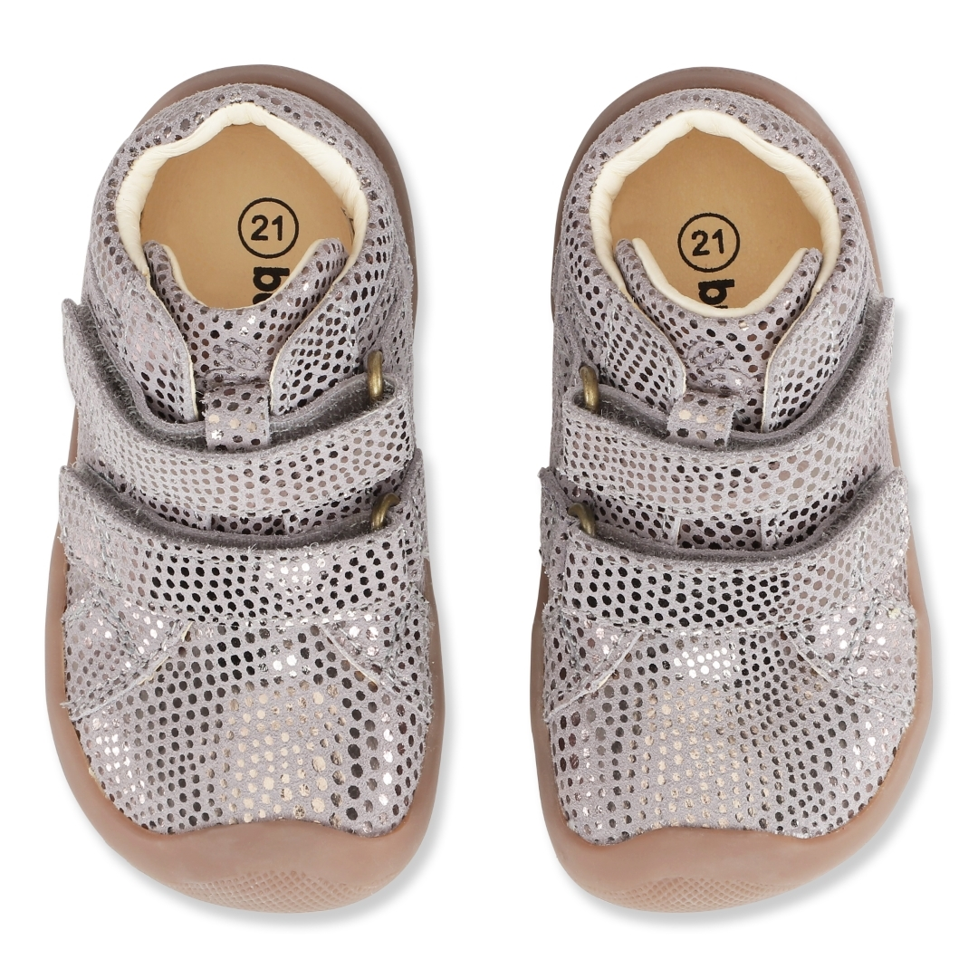 Bundgaard The Walk Velcro sko, gravel, 25