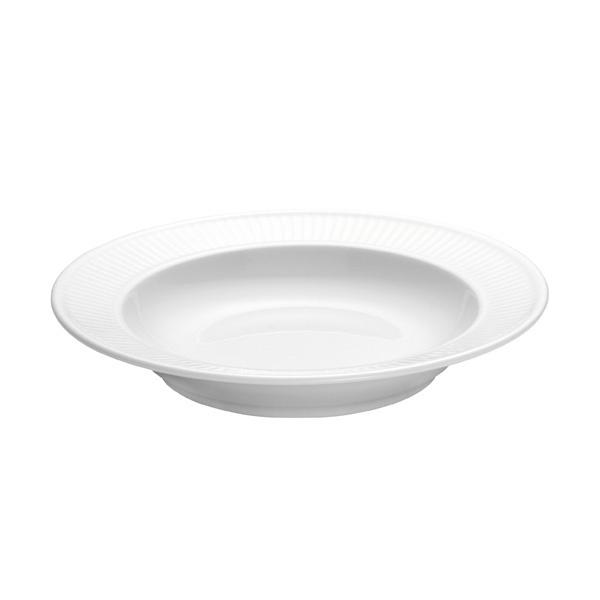 Pillivuyt Plisse dyb tallerken, Ø22 cm, hvid