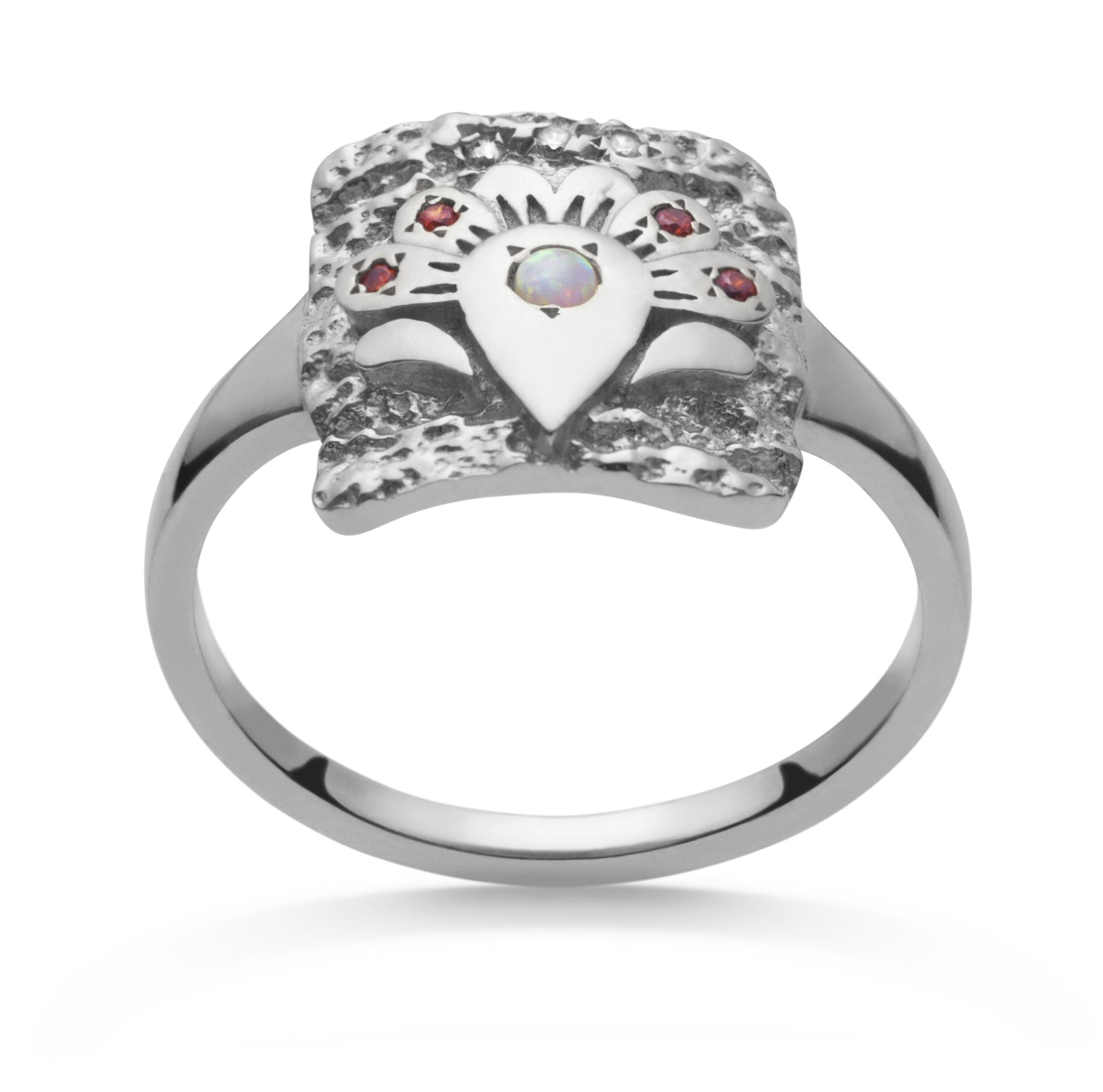 Maanesten Flora ring, sølv, 57