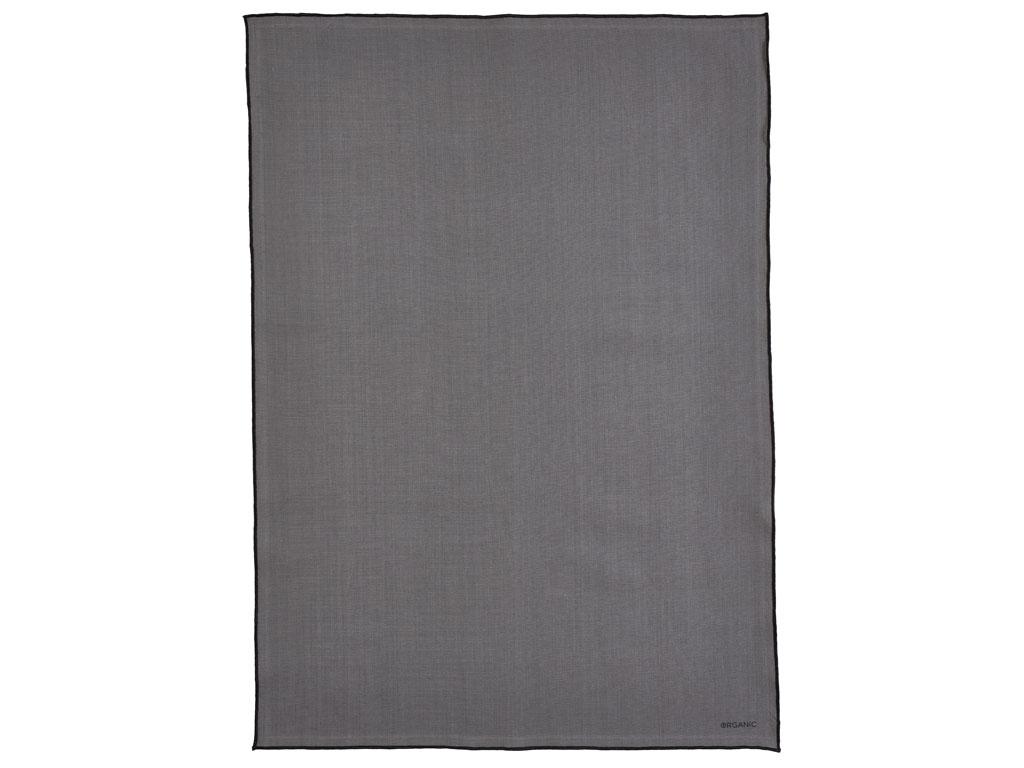 Södahl Organic by BITZ viskestykke, 55x80 cm, grey/black