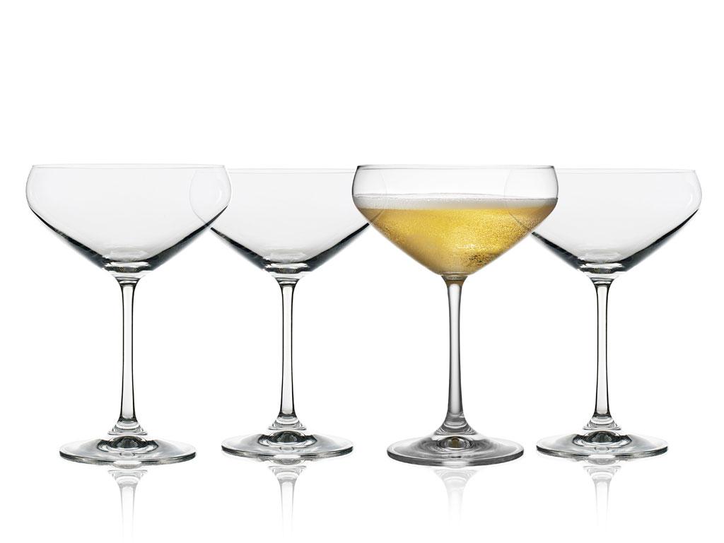 Lyngby-Glas Juvel champagneskål, 340 ml, 4 stk