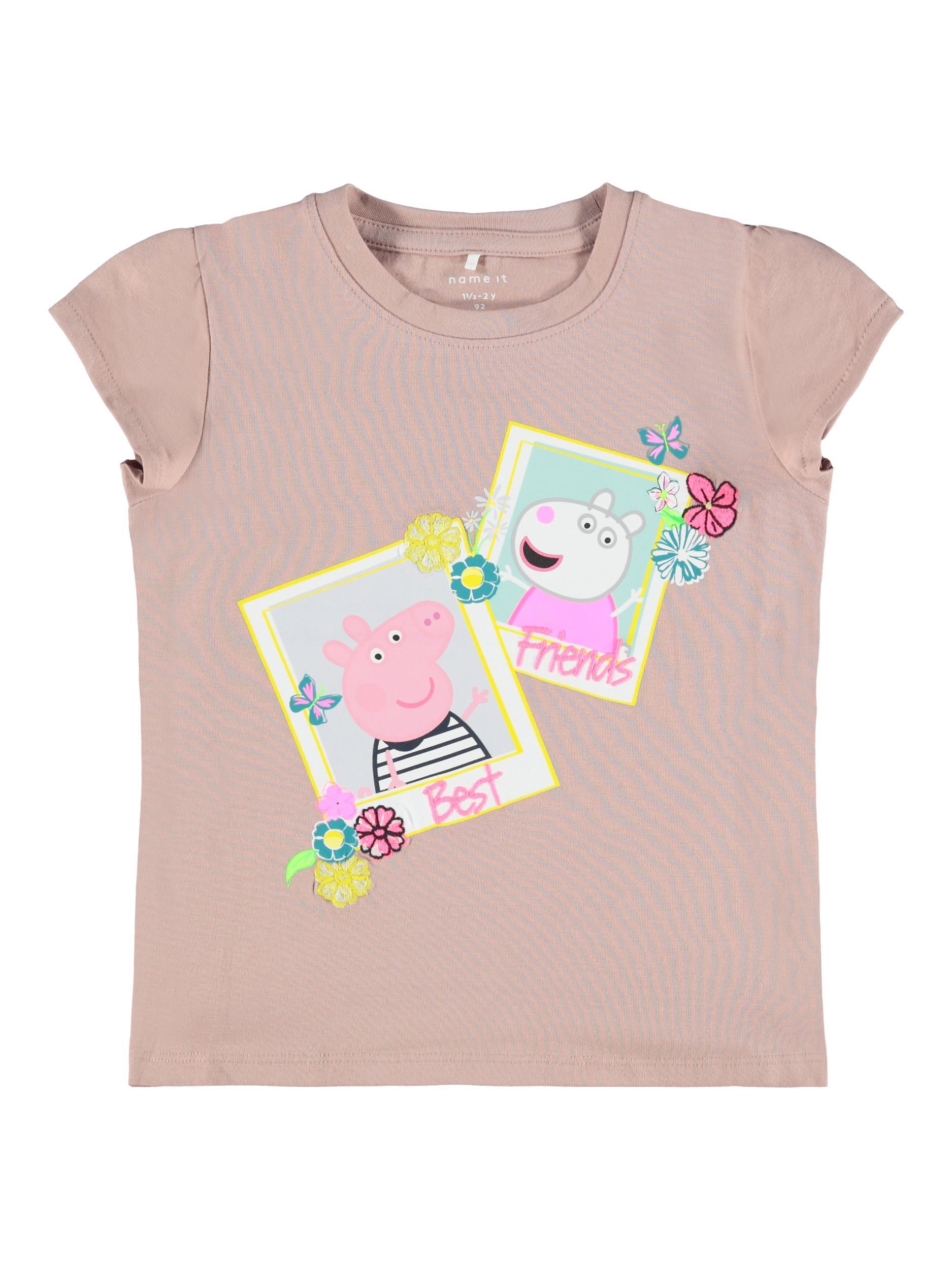 Name It Gurli Gris t-shirt, adobe rose, 98
