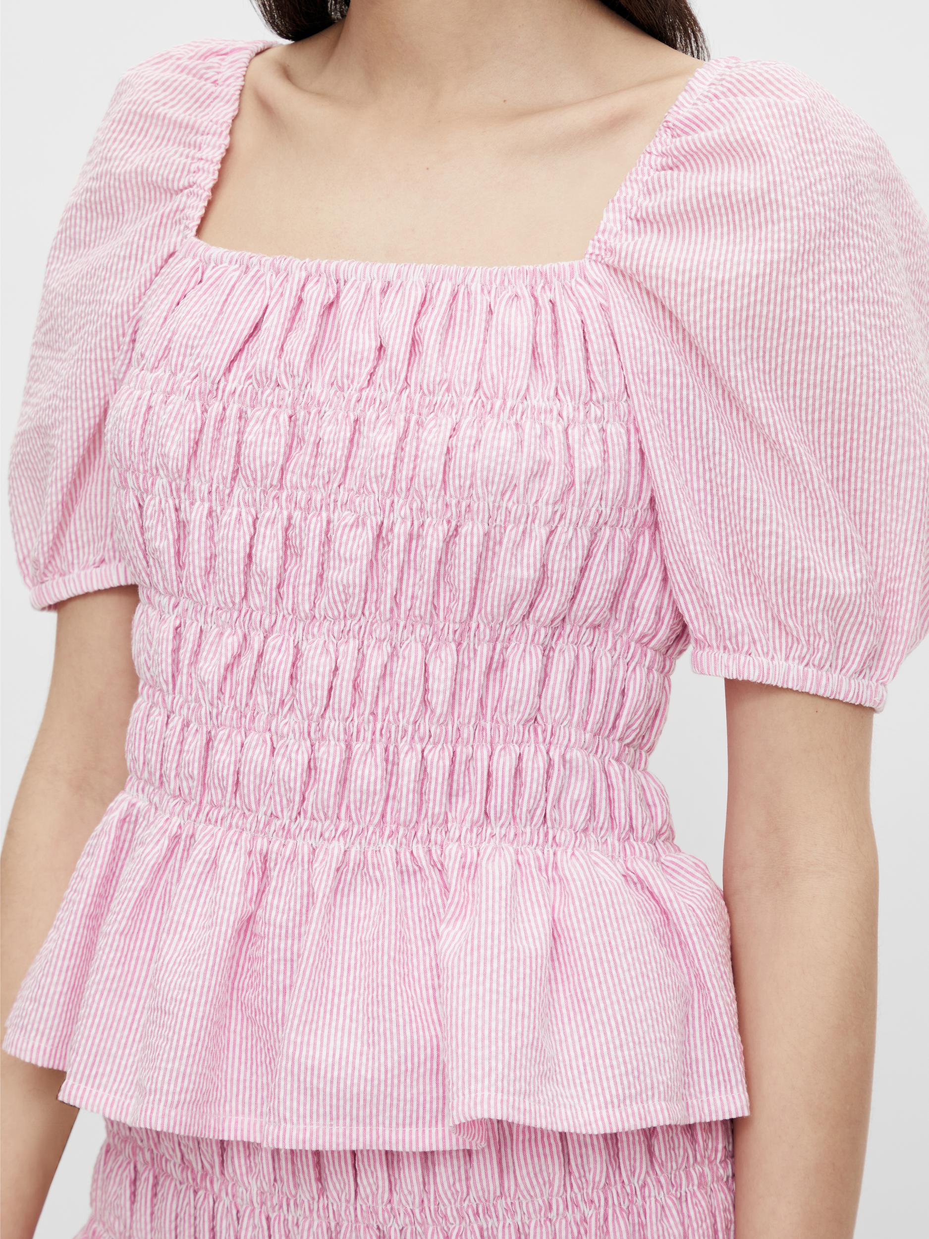 Pieces Sunshine smock top, cyclamen, large