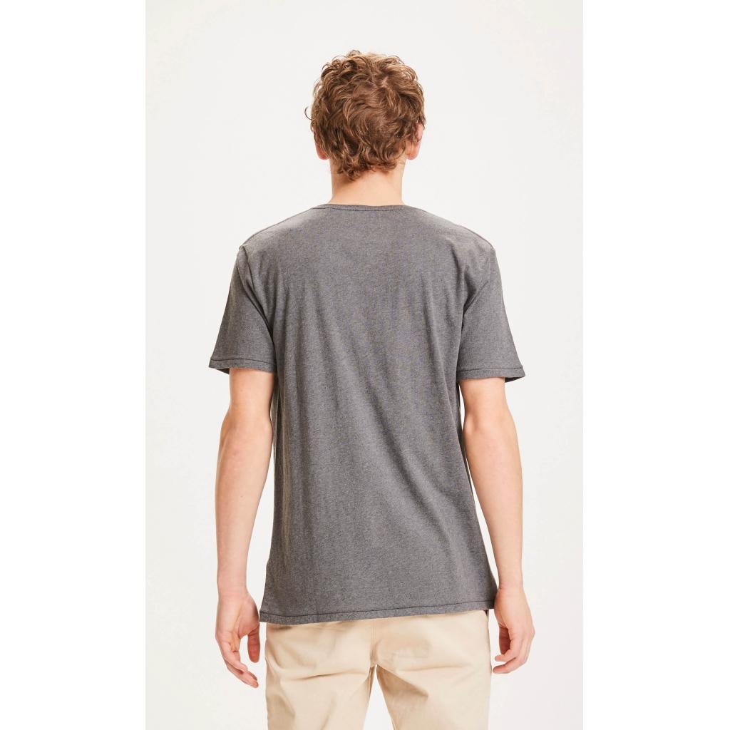 Knowledge Cotton Apparel Alder basic t-shirt, dark grey melange, xxx-large
