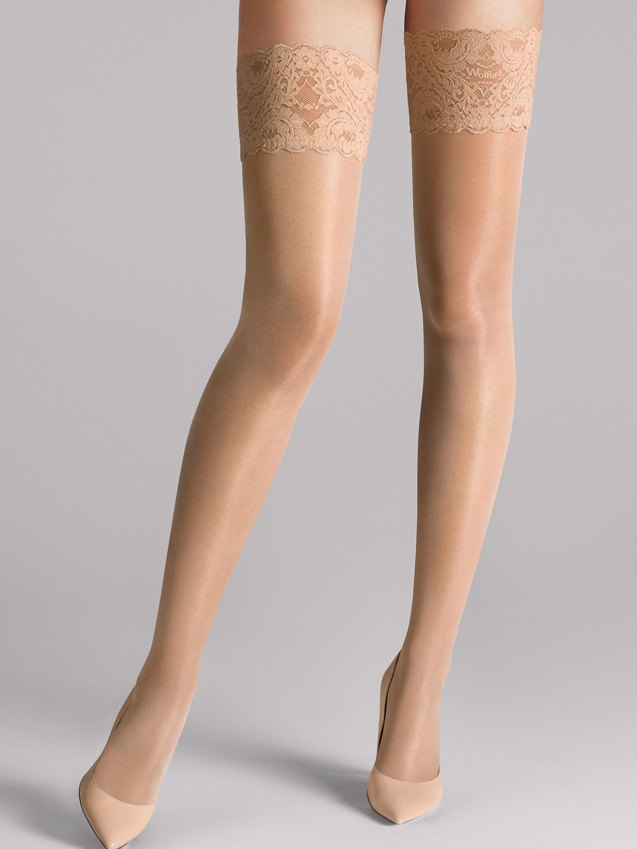 Wolford Satin Touch 20 Stay-Up, fairly light, large