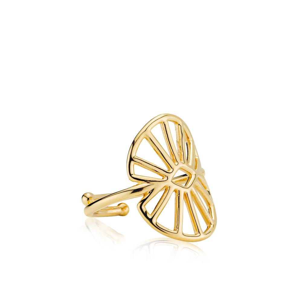 SISTIE Sara medium ring, guld