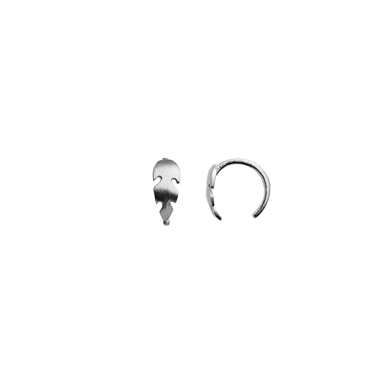 Stine A Petit Feather ørering, sølv