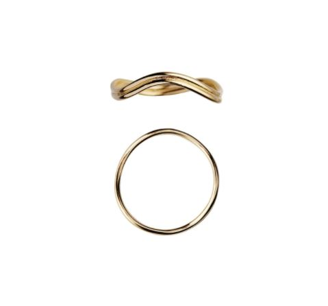 Stine A Love Wave ring, guld, 52
