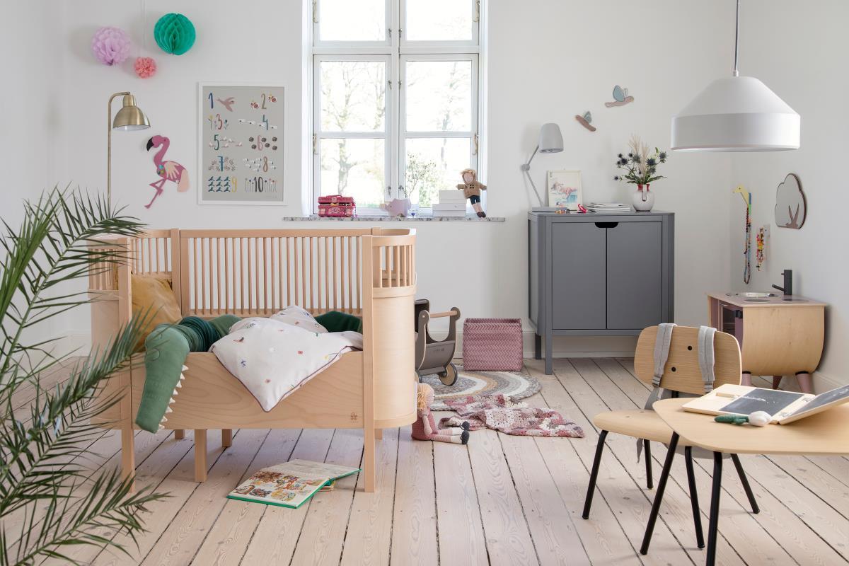 Sebra seng baby&junior, wooden edition