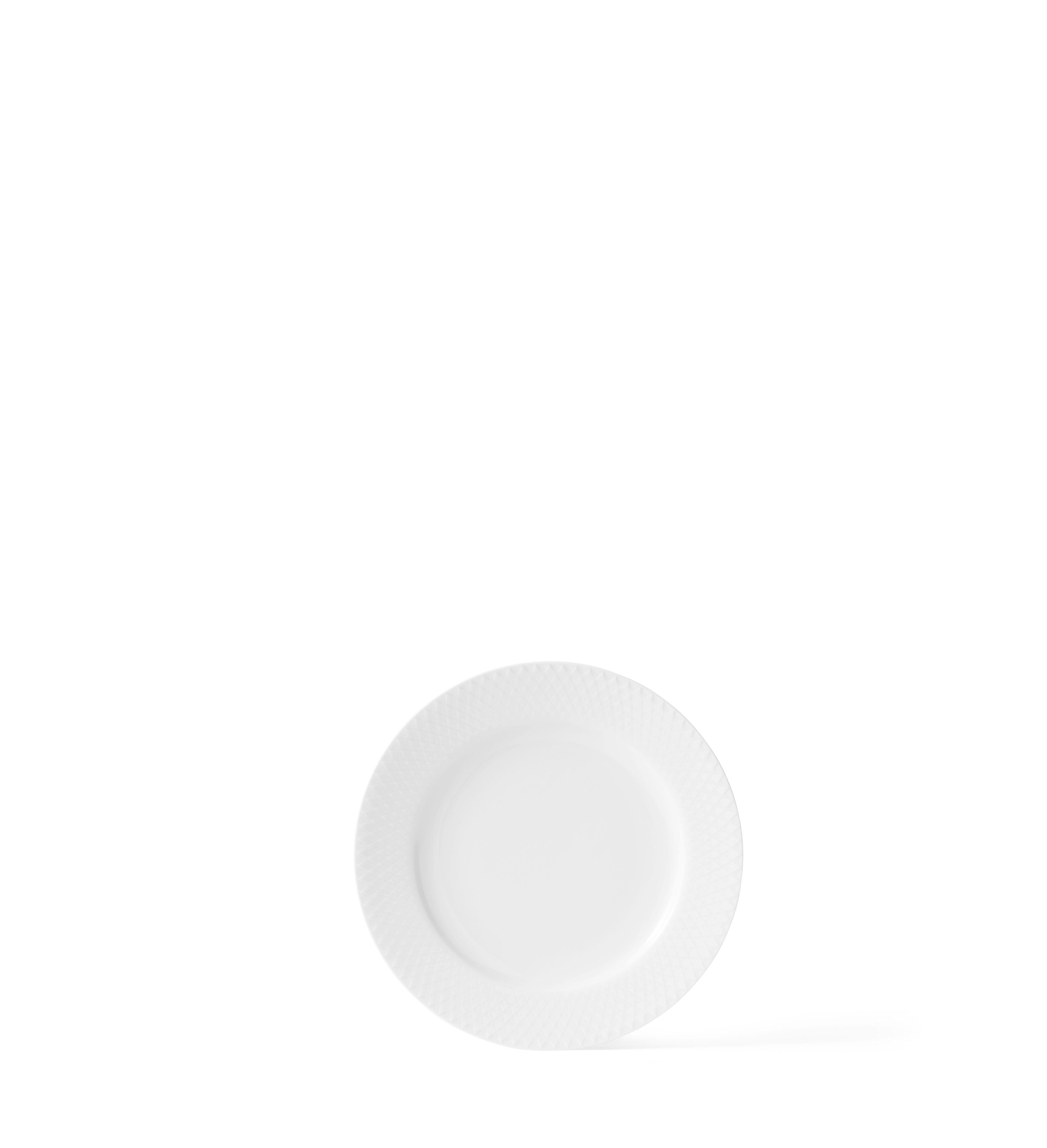 Lyngby Porcelæn Rhombe frokosttallerken, Ø21 cm