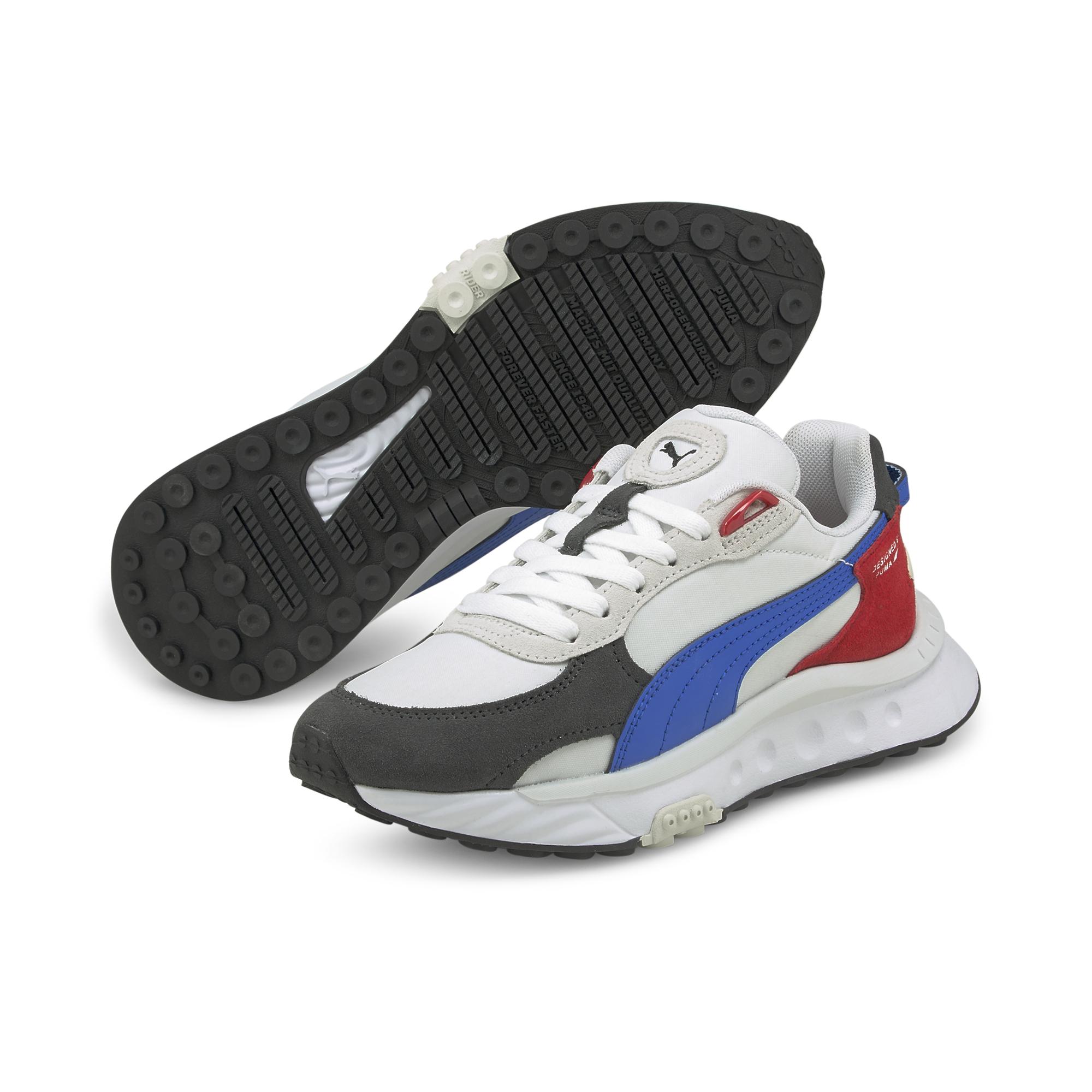 Puma Wild Rider Rollin' Junior Sneakers, Ebony, 36