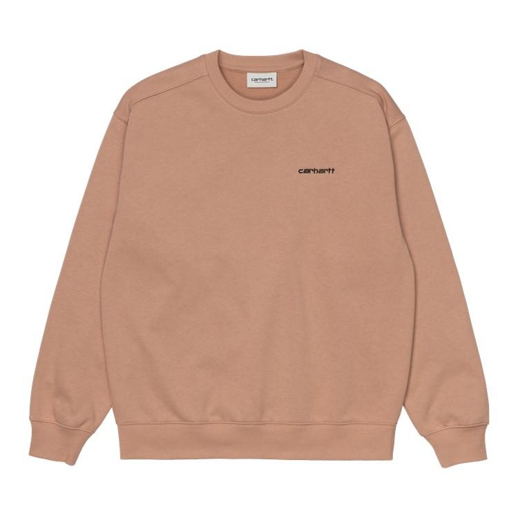 Carhartt W' Script Embroidery sweatshirt, sediment, XS