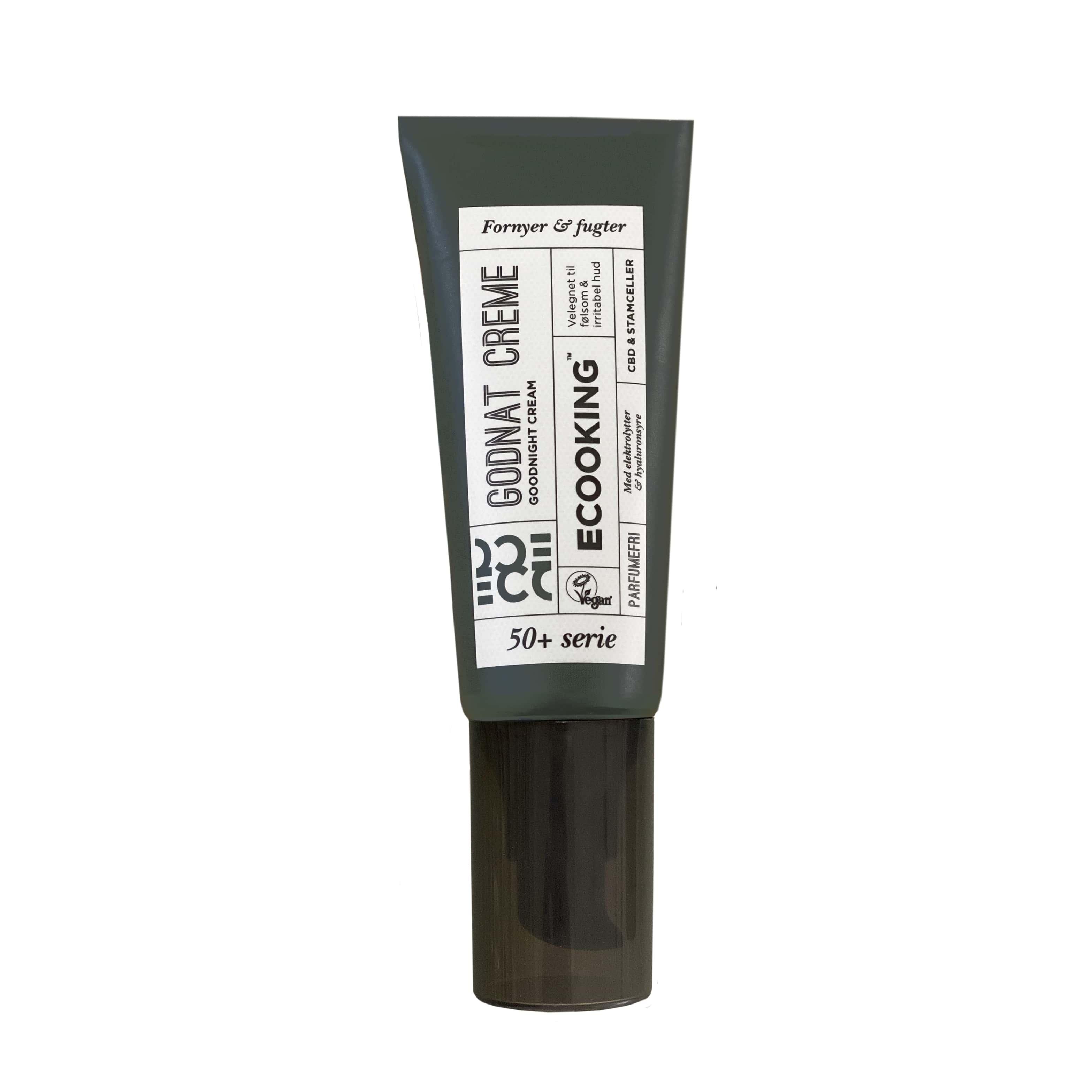Ecooking Parfumefri 50+ Godnat Creme, 50 ml