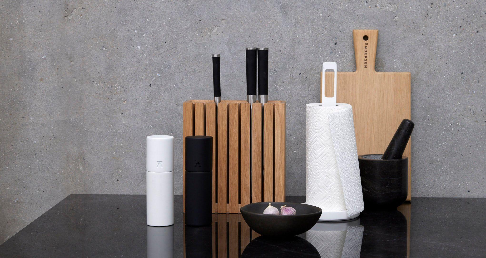 Andersen Furniture Køkkenrulleholder, 33 cm, Sort