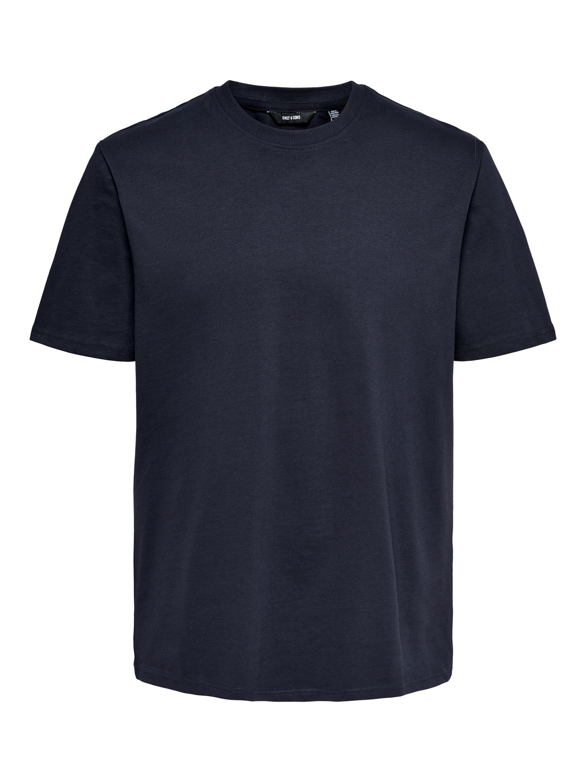 Only & Sons Anel Life SS t-shirt, dark navy, medium