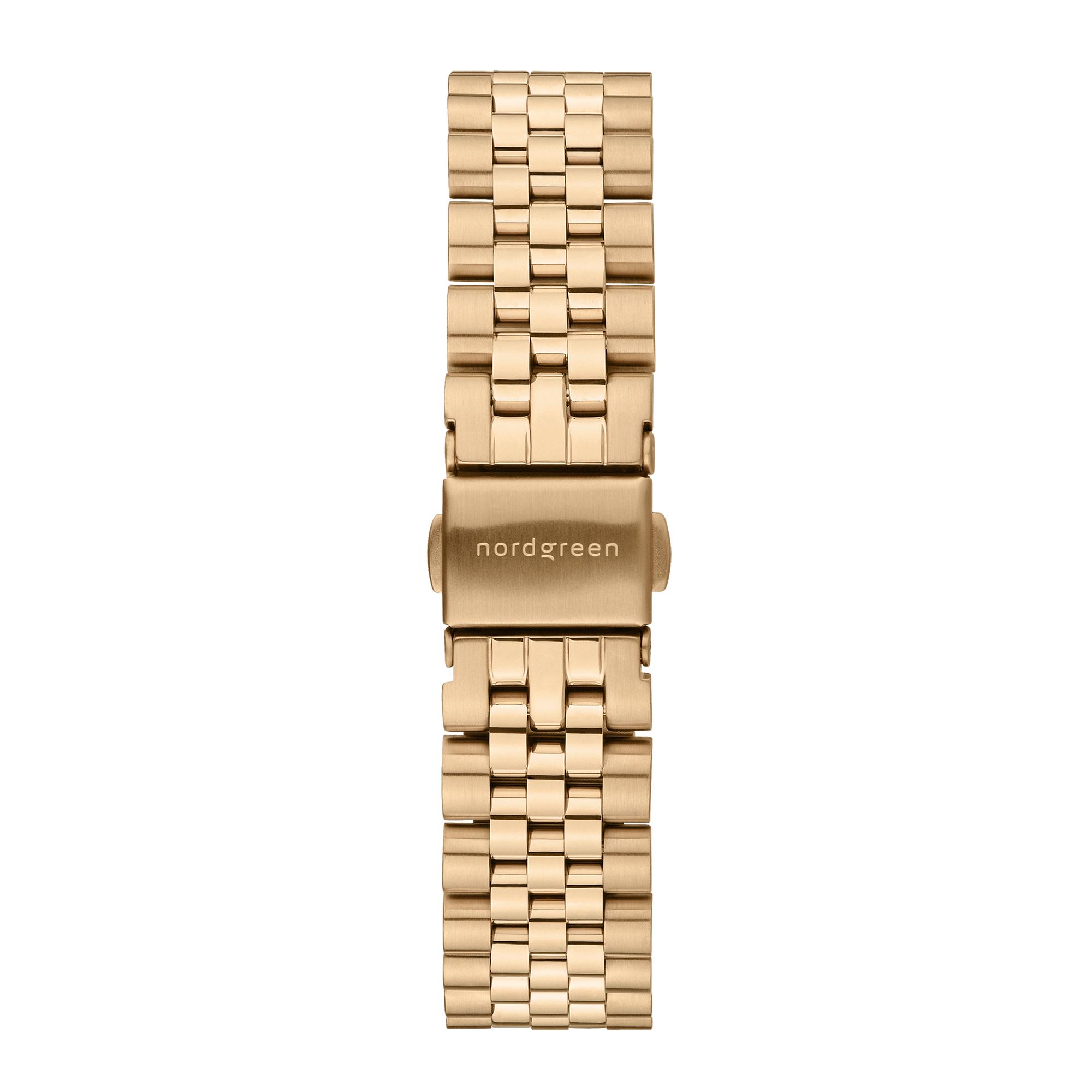 Nordgreen Native ur, guld/sort, 32 mm