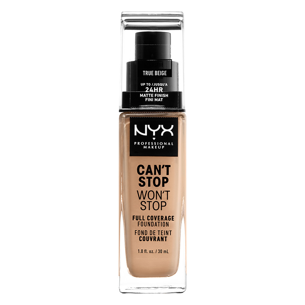 NYX Professional Makeup Cant Stop Wont Stop 24-Hours Foundation, true beige