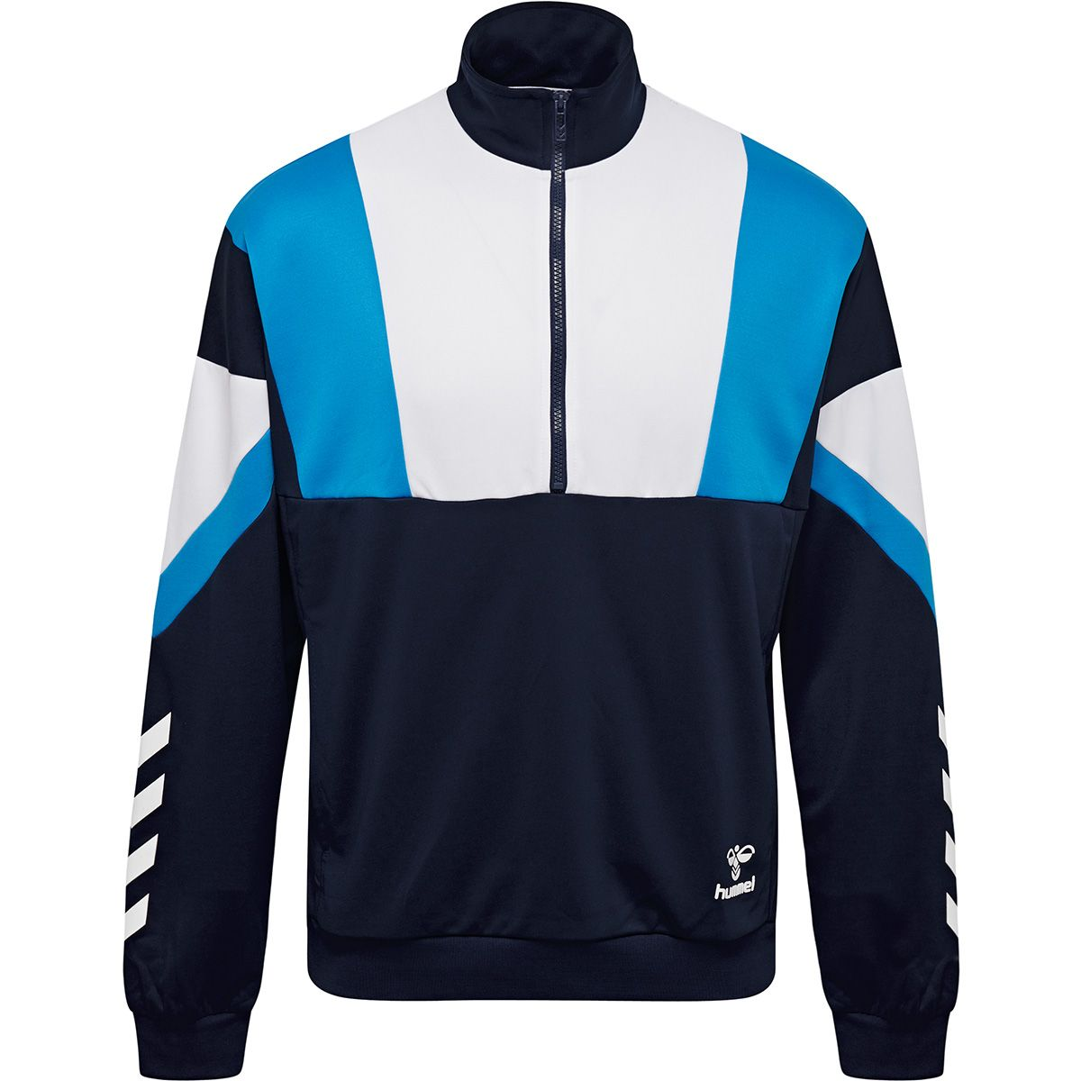 Hummel Draco Zip sweatshirt, black iris, x-large