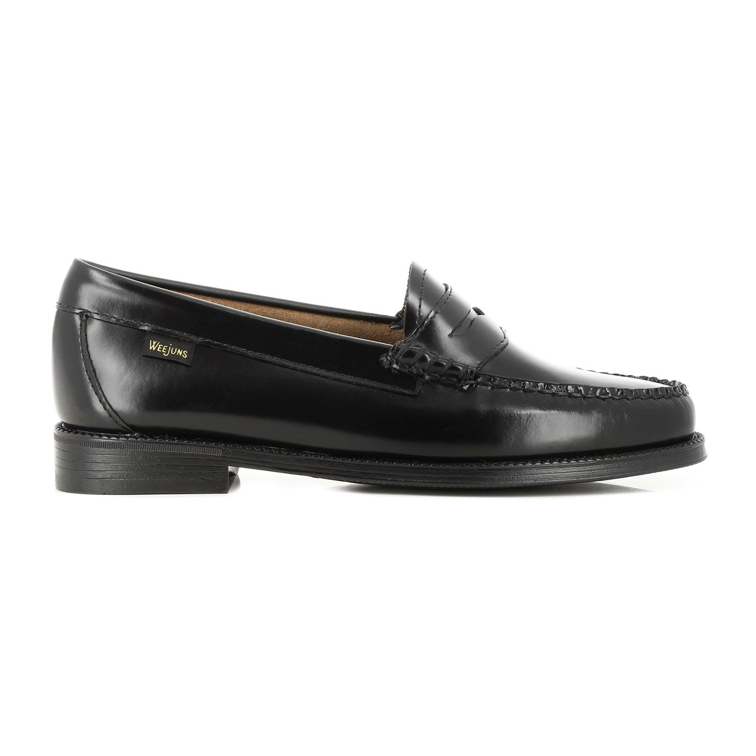 G. H. Bass Easy Weejuns Penny Loafers, Black Leather, 41