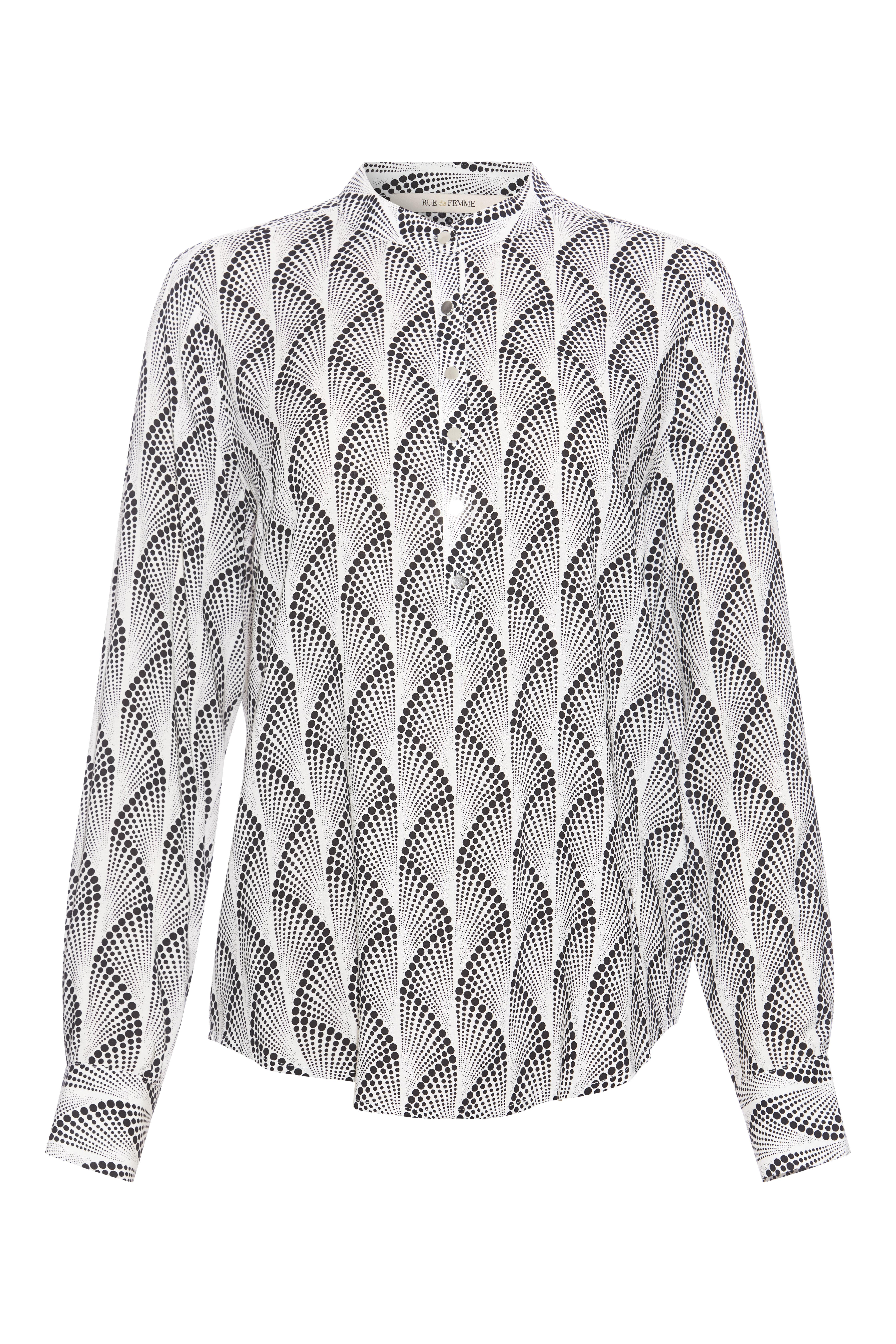 Rue de Femme Dot skjorte, black, x-small