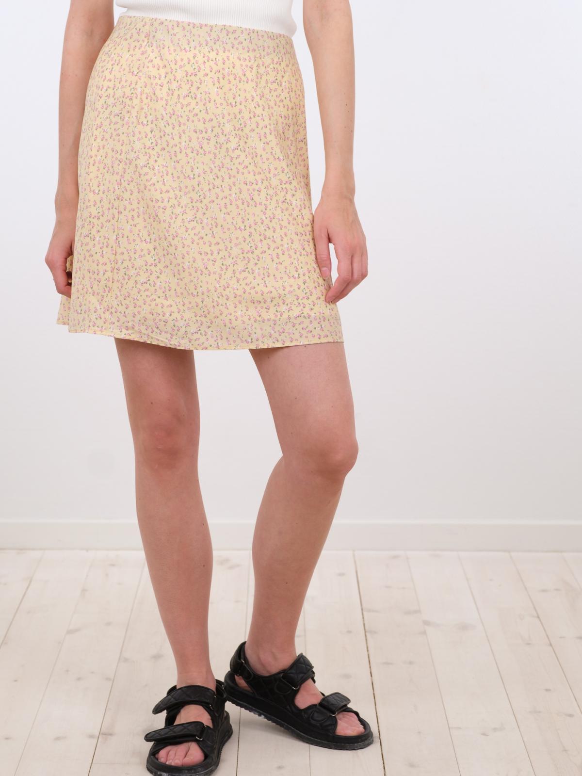 Neo Noir Lunna Summer Rose nederdel, light yellow, 34
