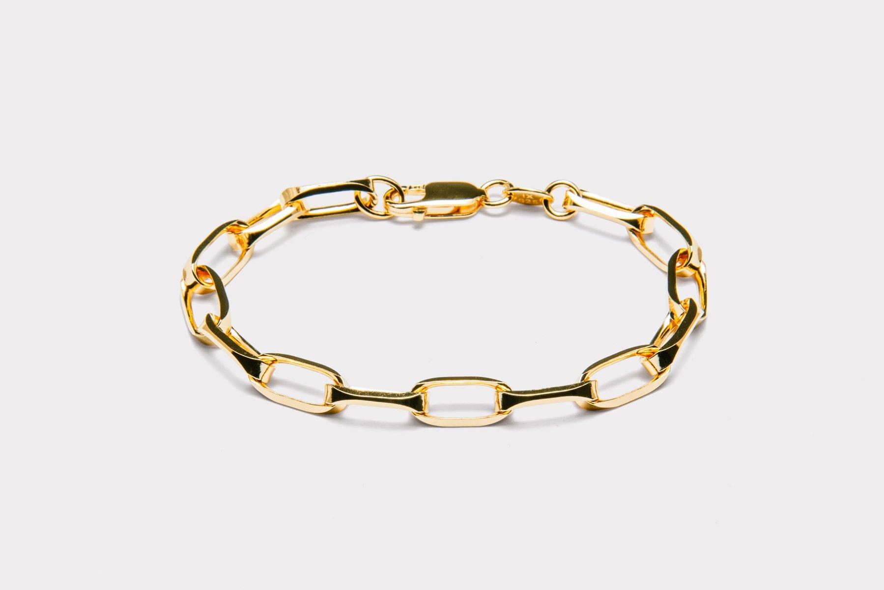 Frederik IX Studios Prestige armbånd, Gold, 17 cm