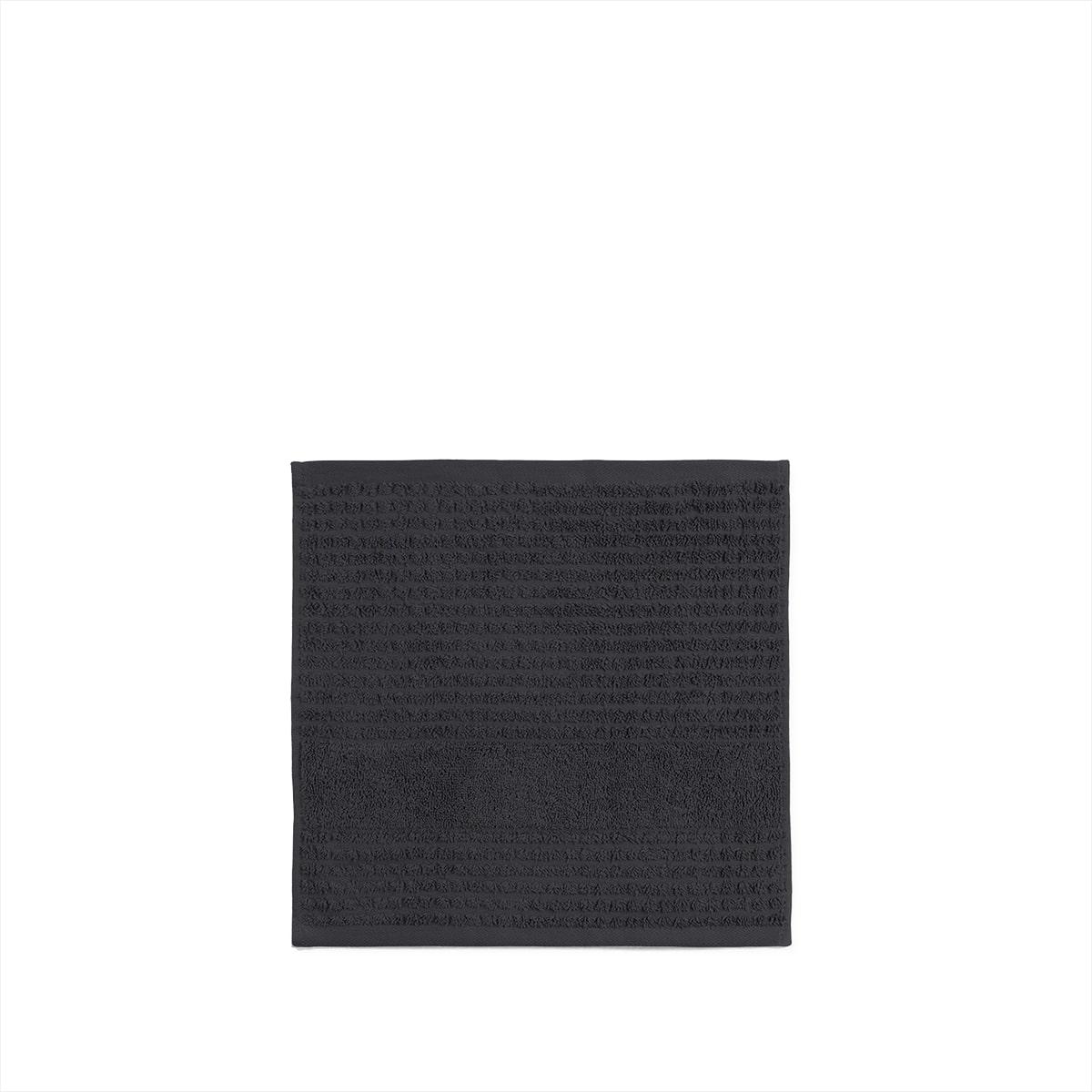 Juna Check vaskeklud, 30x30 cm, mørkegrå