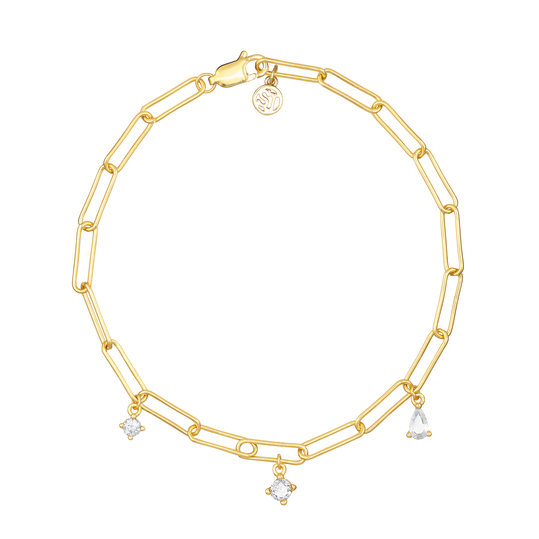 Sif Jakobs Jewellery Rimini armbånd, guld/hvid