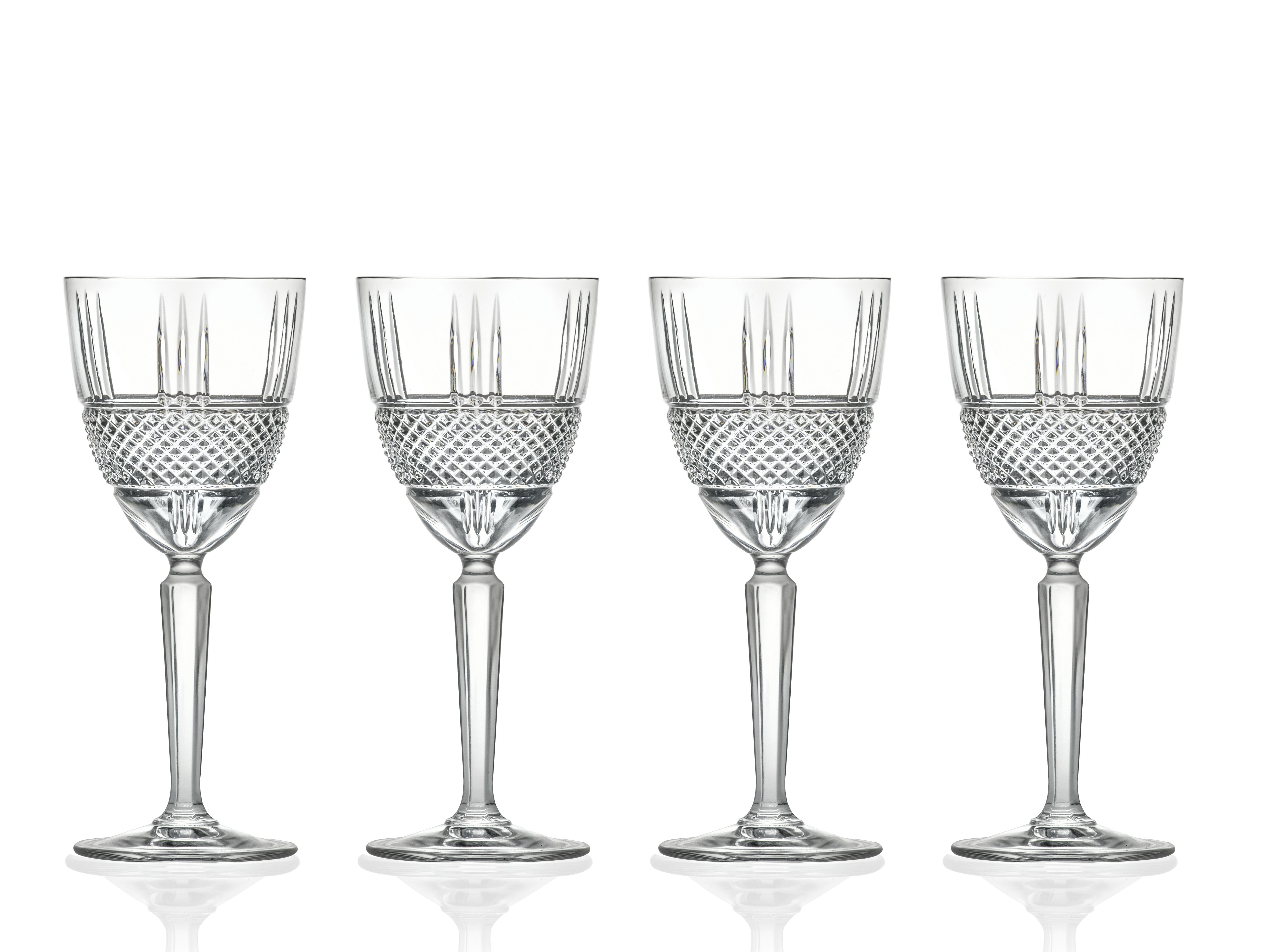 Lyngby-Glas Brillante rødvinsglas, 290 ml, 4 stk