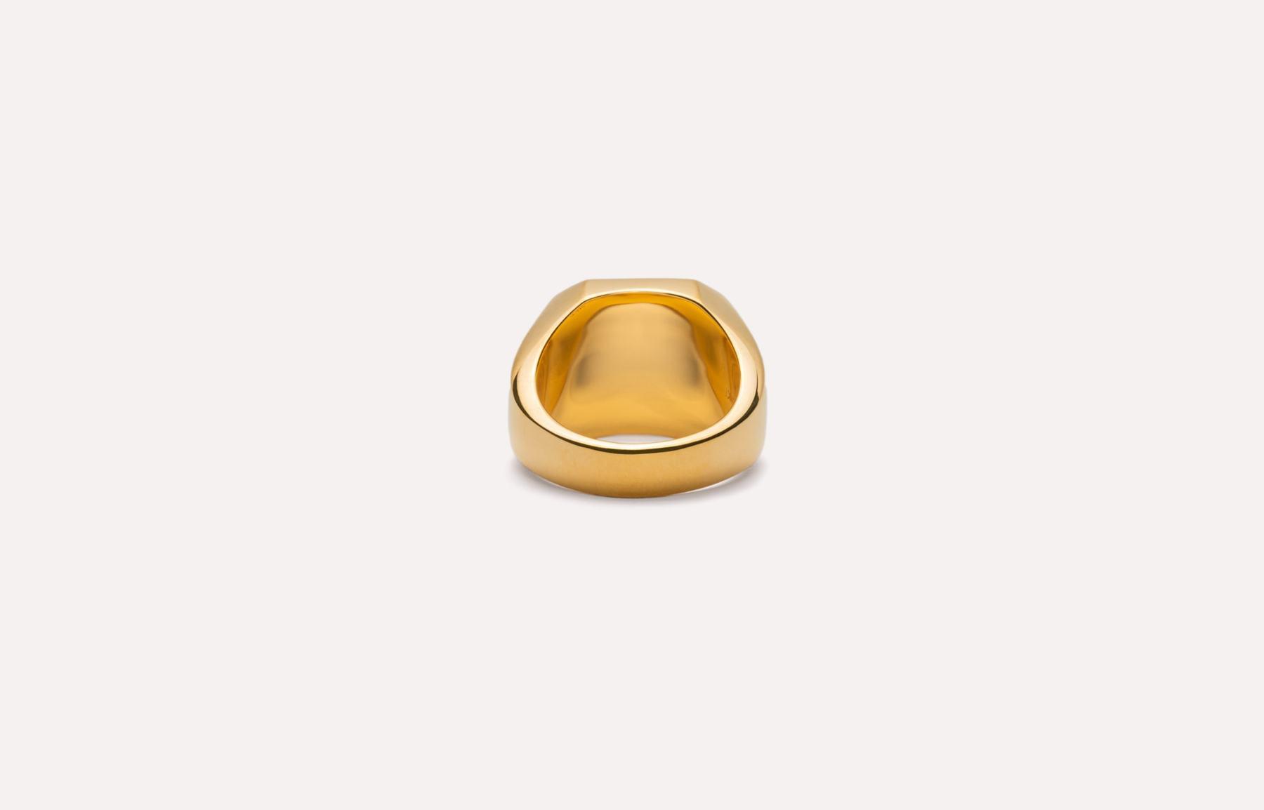 Frederik IX Studios Octagon signet ring, Gold, 60
