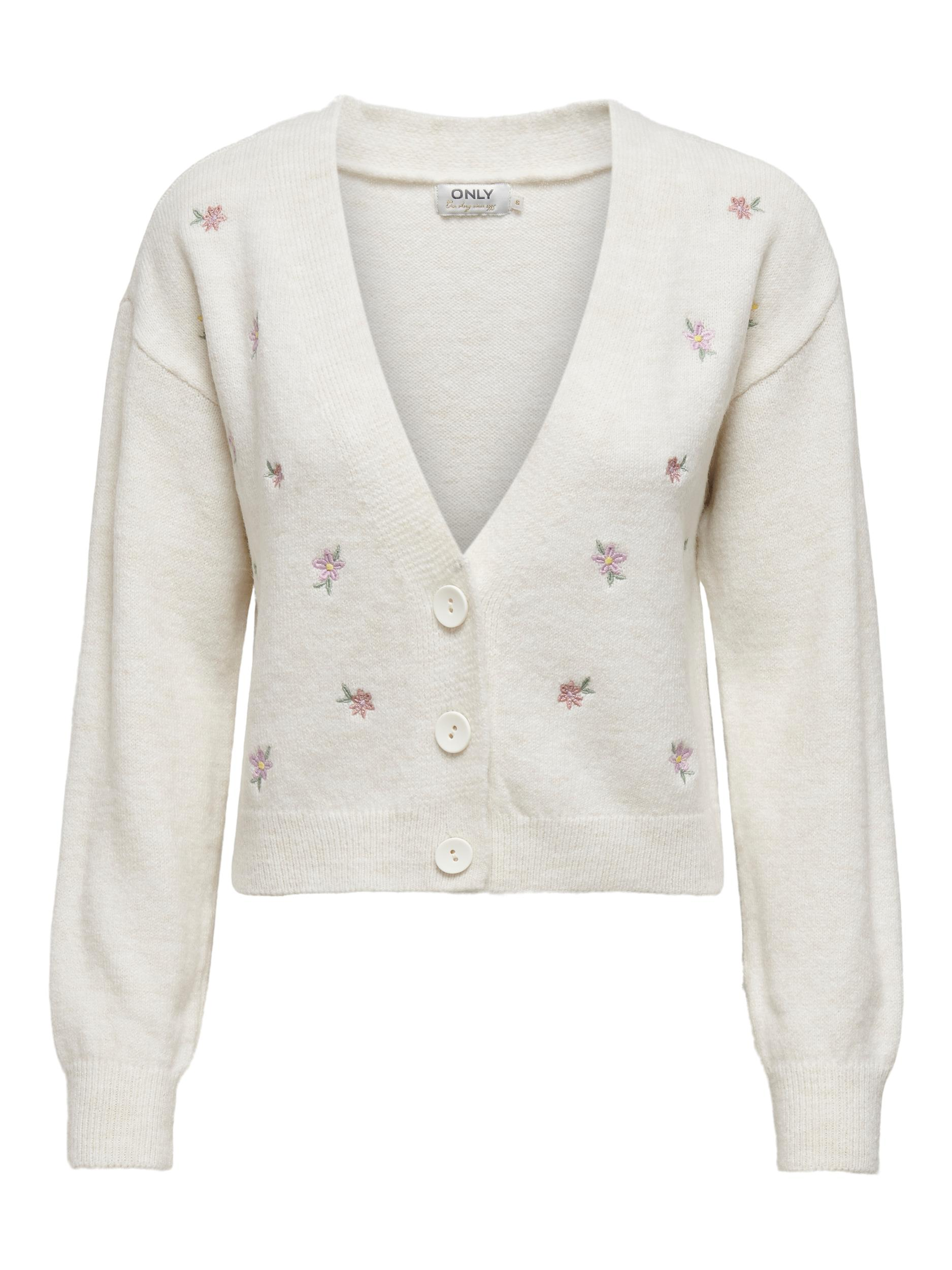 Only Annie LS cardigan, pumice stone, x-large
