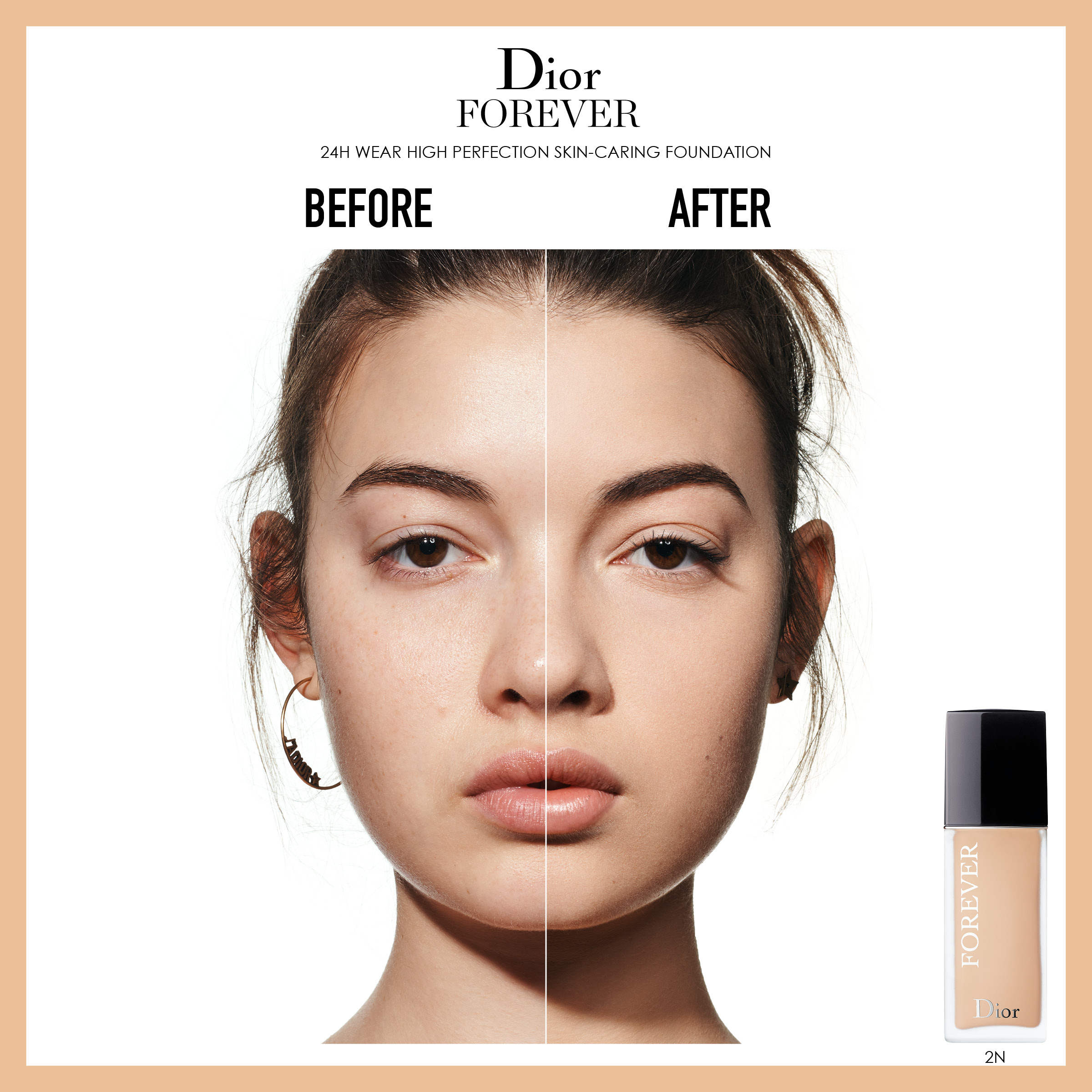DIOR Forever Fluid Foundation, 2 Cool Rosy