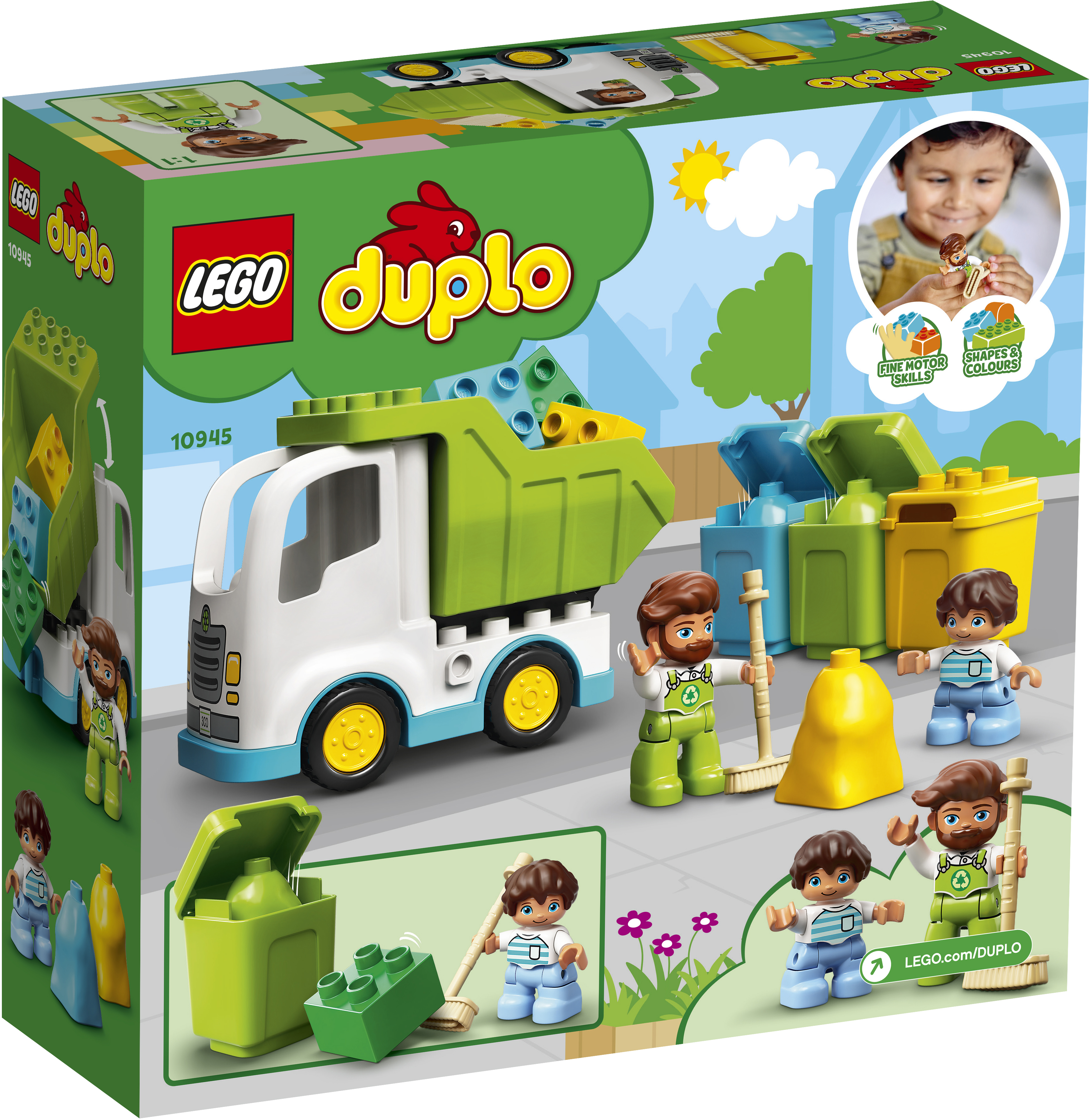 LEGO DUPLO Skraldebil og Genbrug - 10945