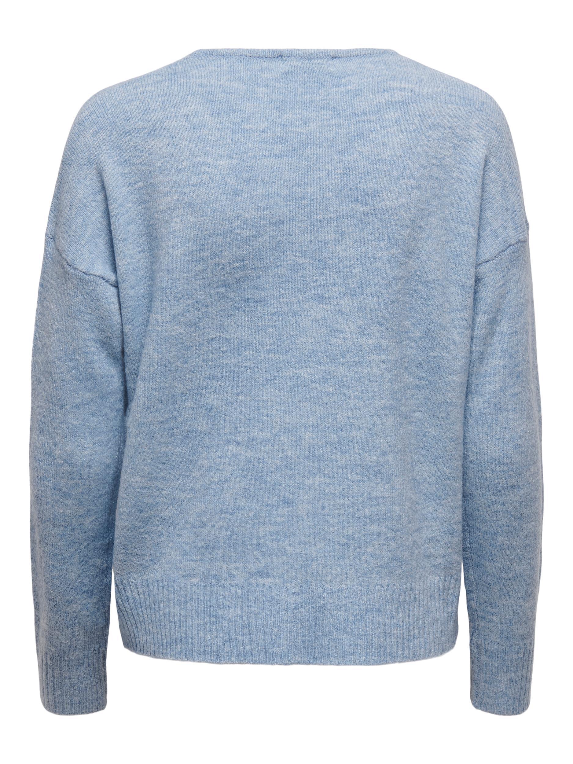Jacqueline de Yong Elanora bluse, light blue, medium