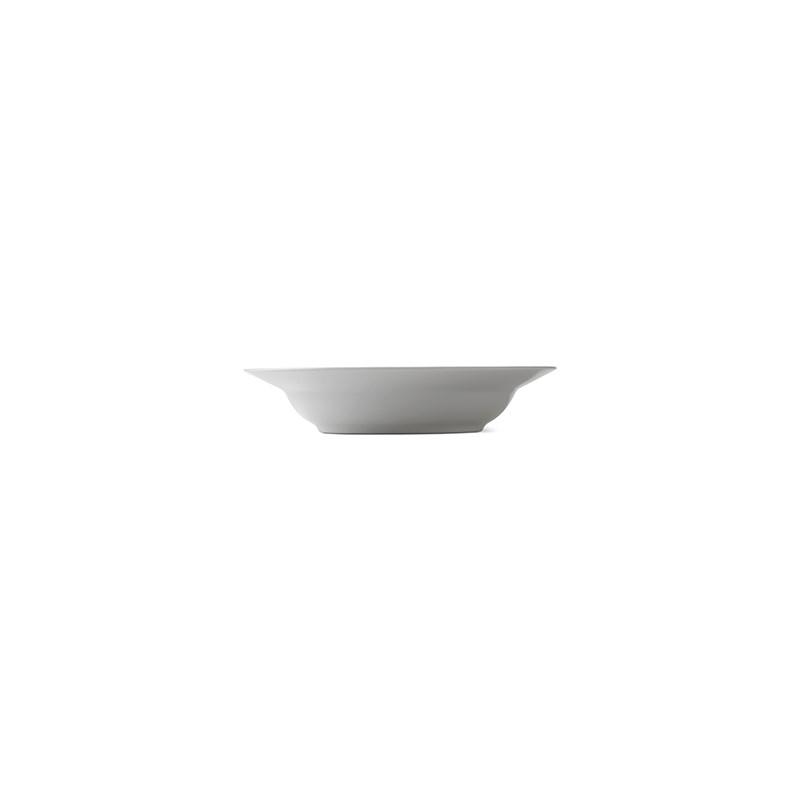 Royal Copenhagen Hvid Riflet dyb tallerken, Ø21 cm