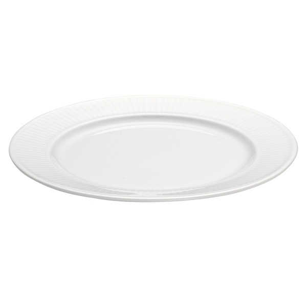 Pillivuyt Plisse frokosttallerken, Ø20 cm, hvid