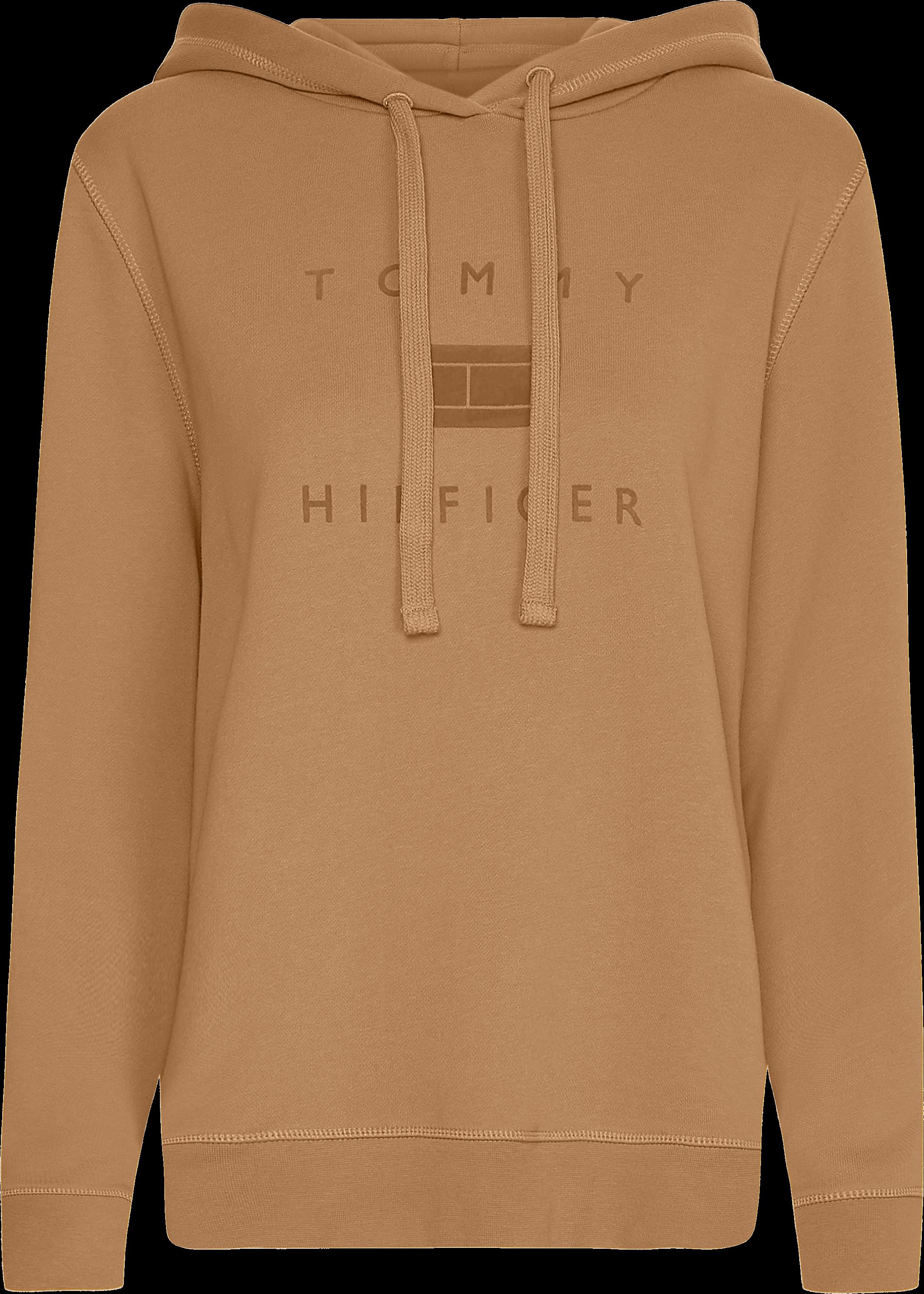 Tommy Hilfiger Regular Flock Hættetrøje, Khaki, S
