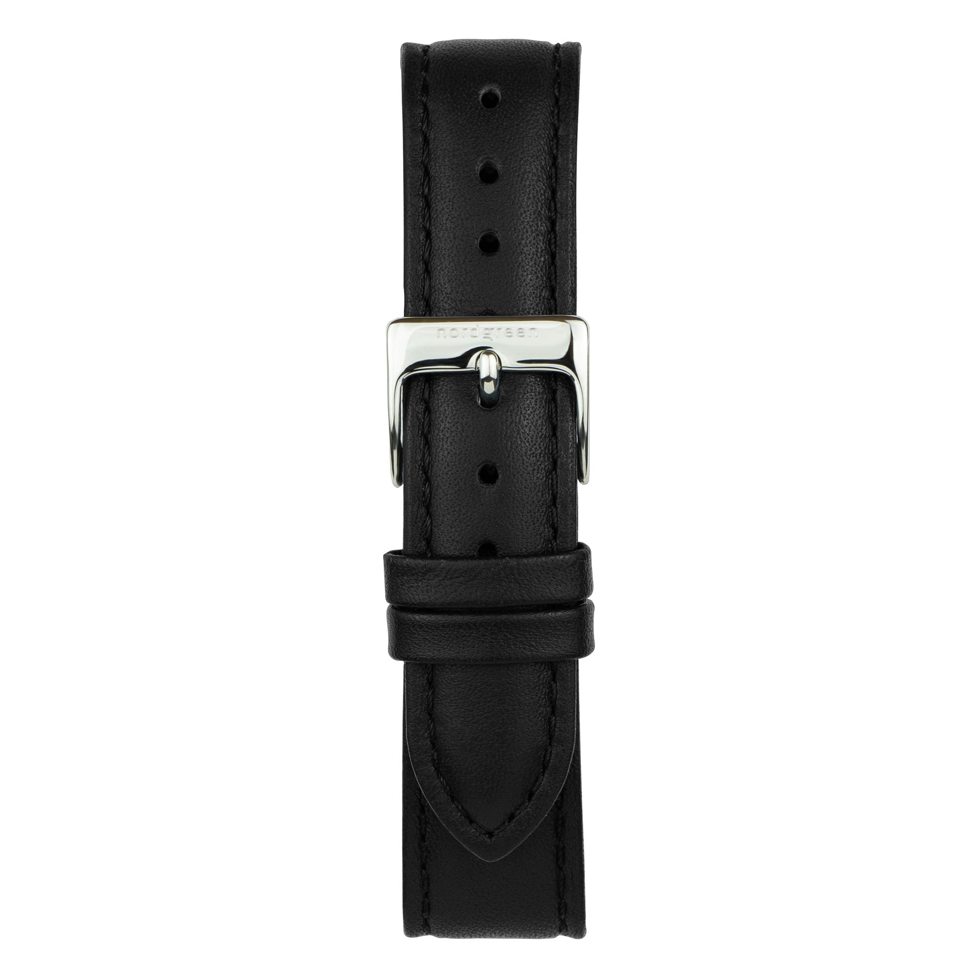 Nordgreen Native ur, sølv/sort, 40 mm
