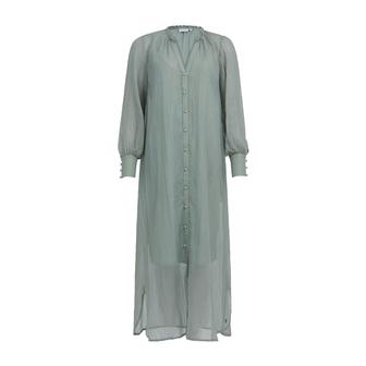 Coster Copenhagen Metallic Chiffon kjole, dust green, 36