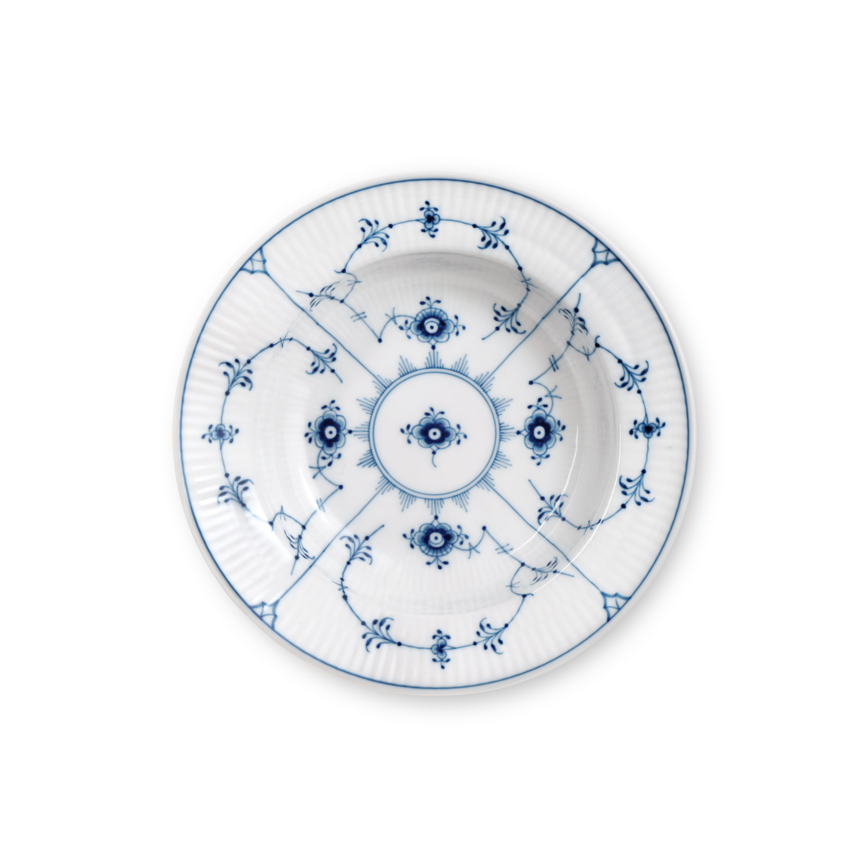 Royal Copenhagen Musselmalet dyb tallerken, Ø17 cm