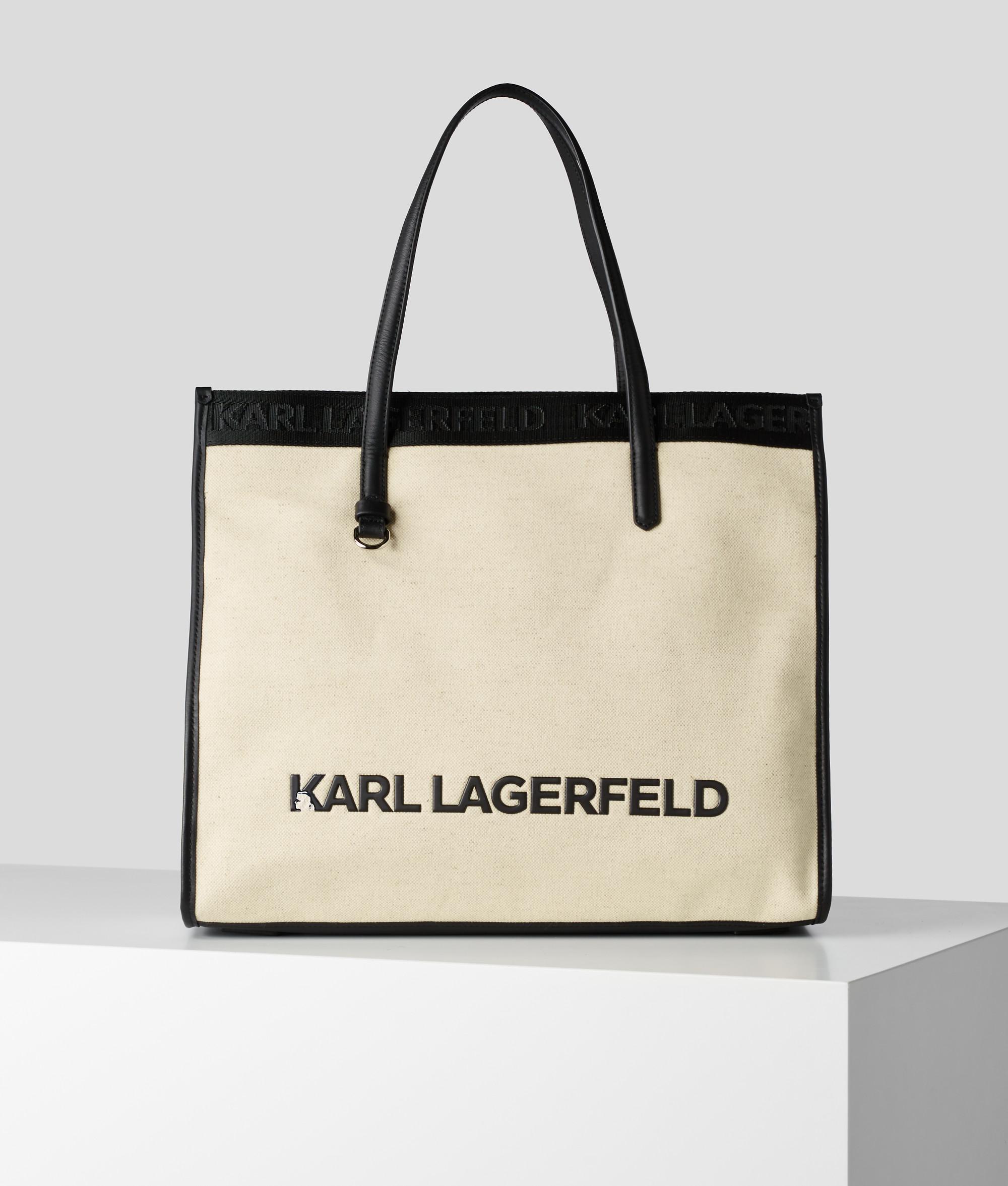 Karl Lagerfeld Skuare Canvas Tote shopper