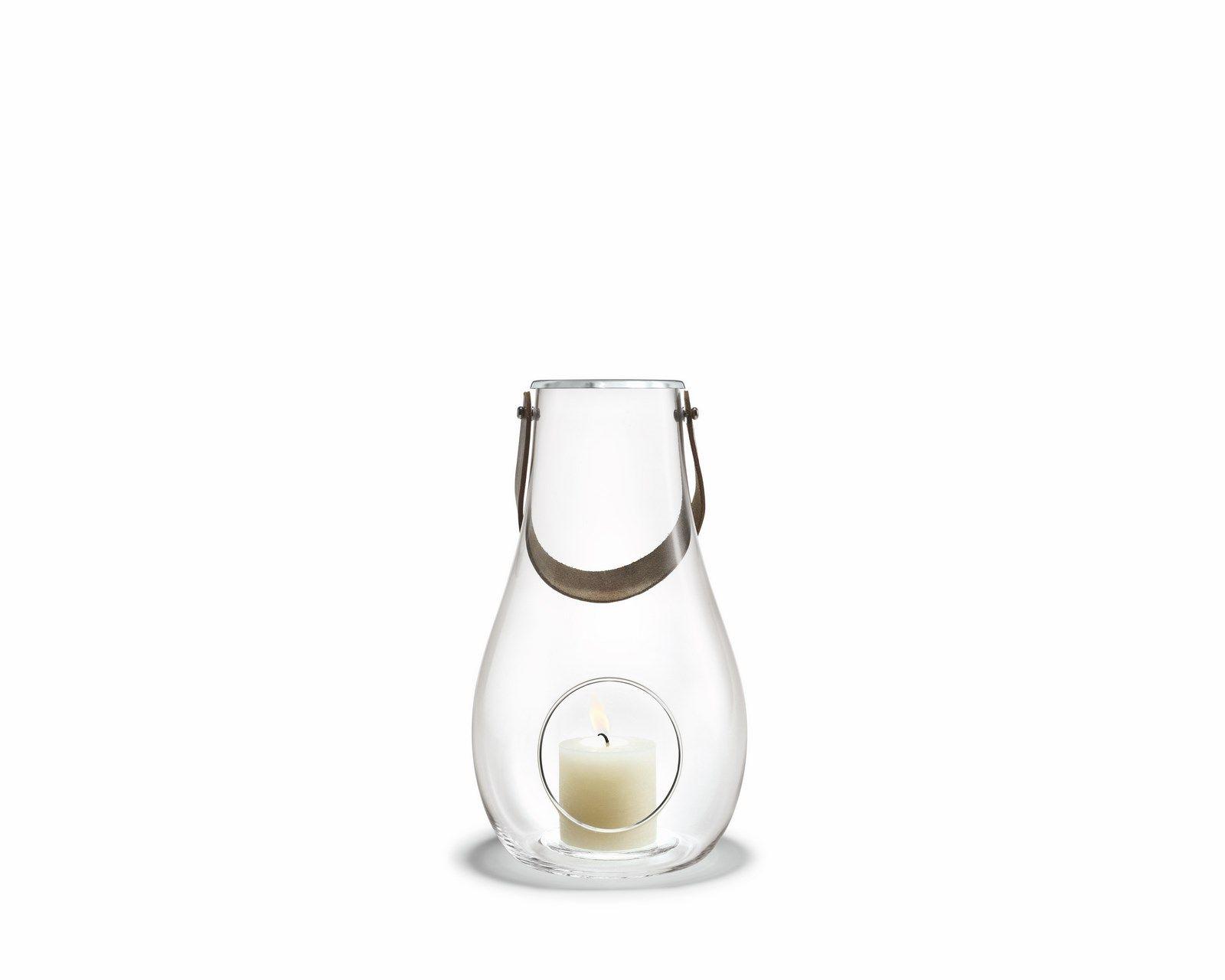 Holmegaard Design with light lanterne, 29,3 cm, klar