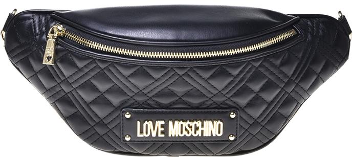 Love Moschino quiltet bæltetaske