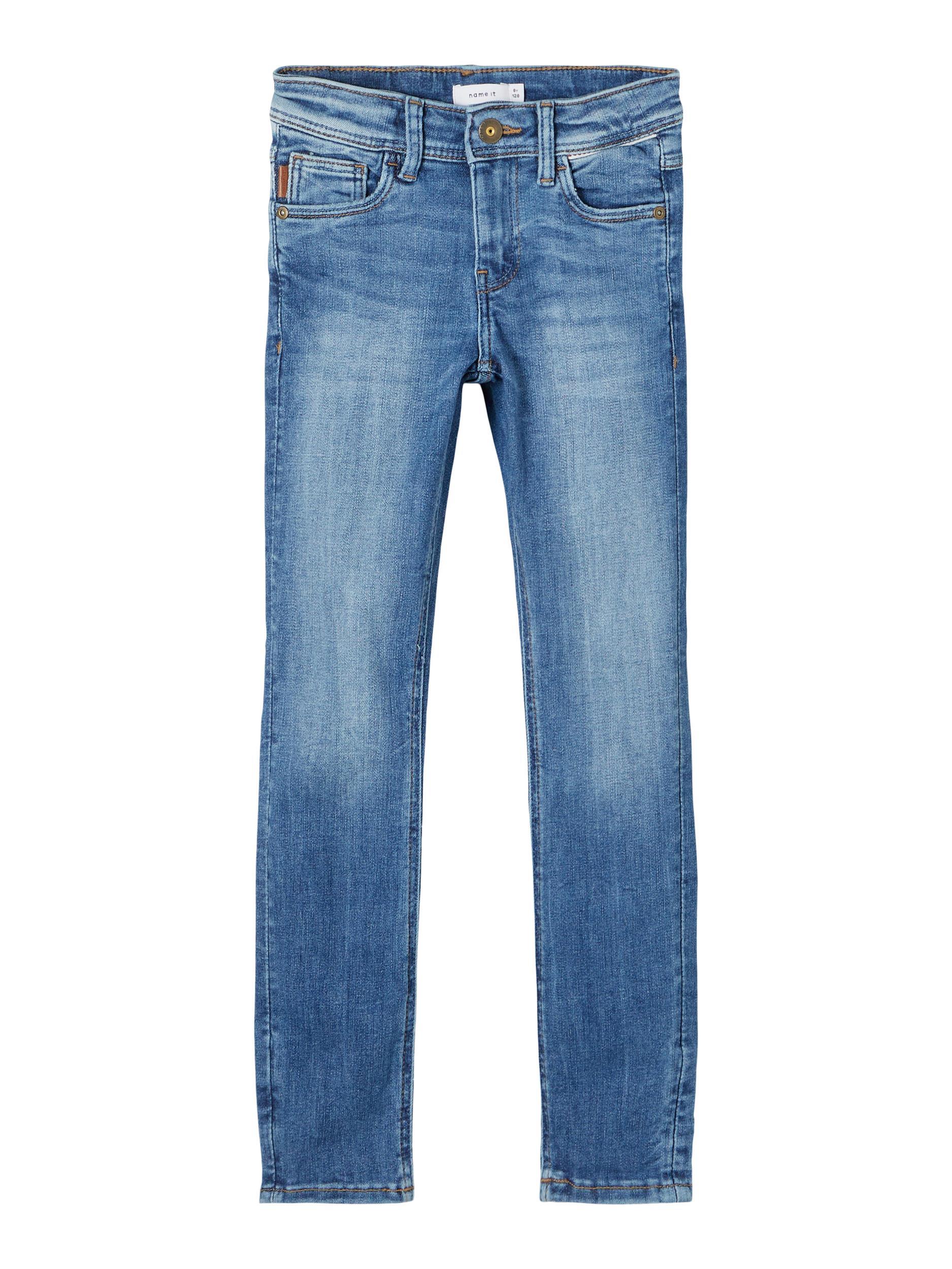 Name It Theo Tartys jeans, medium blue denim, 146