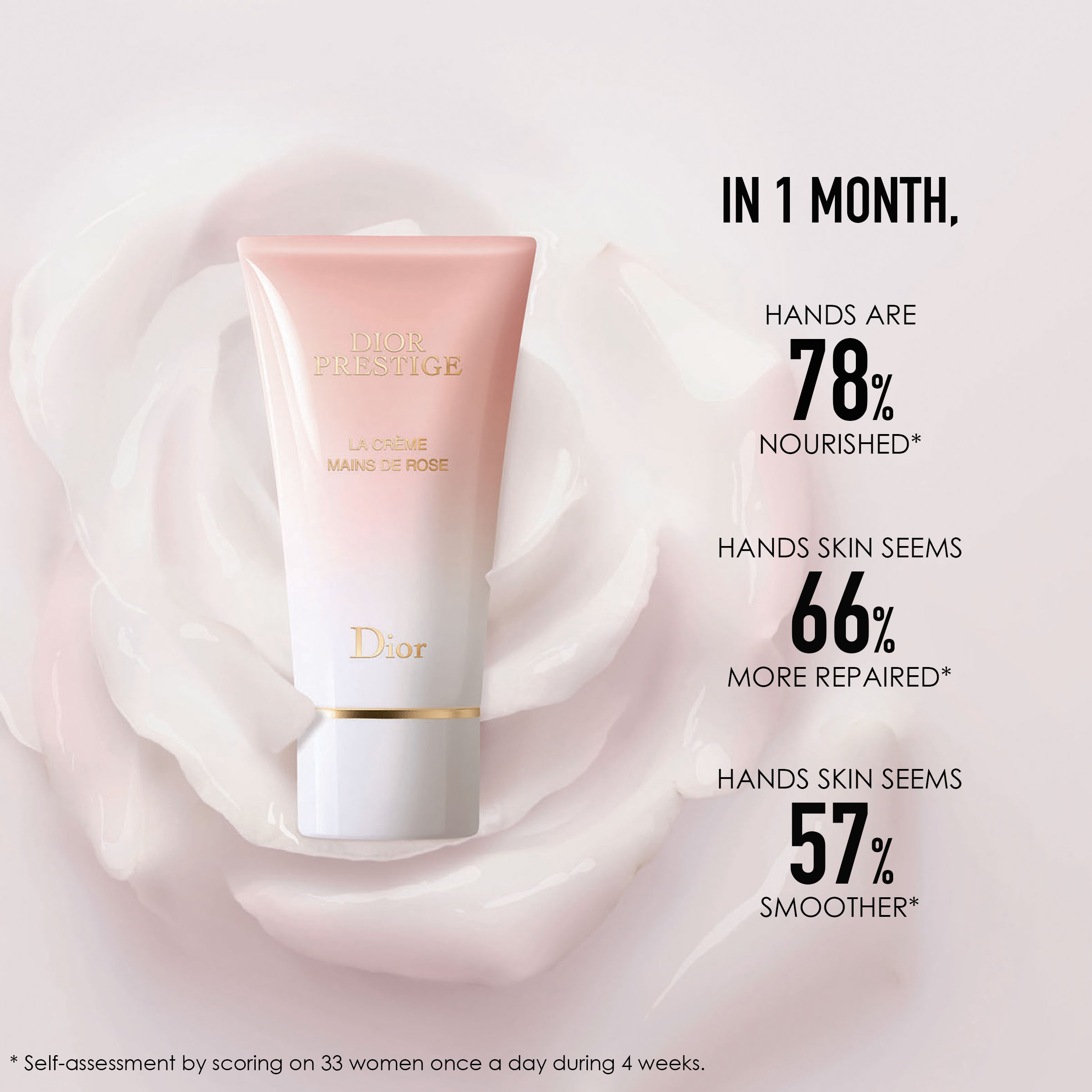 DIOR Prestige La Crème Mains de Rose Hand Creme, 50 ml