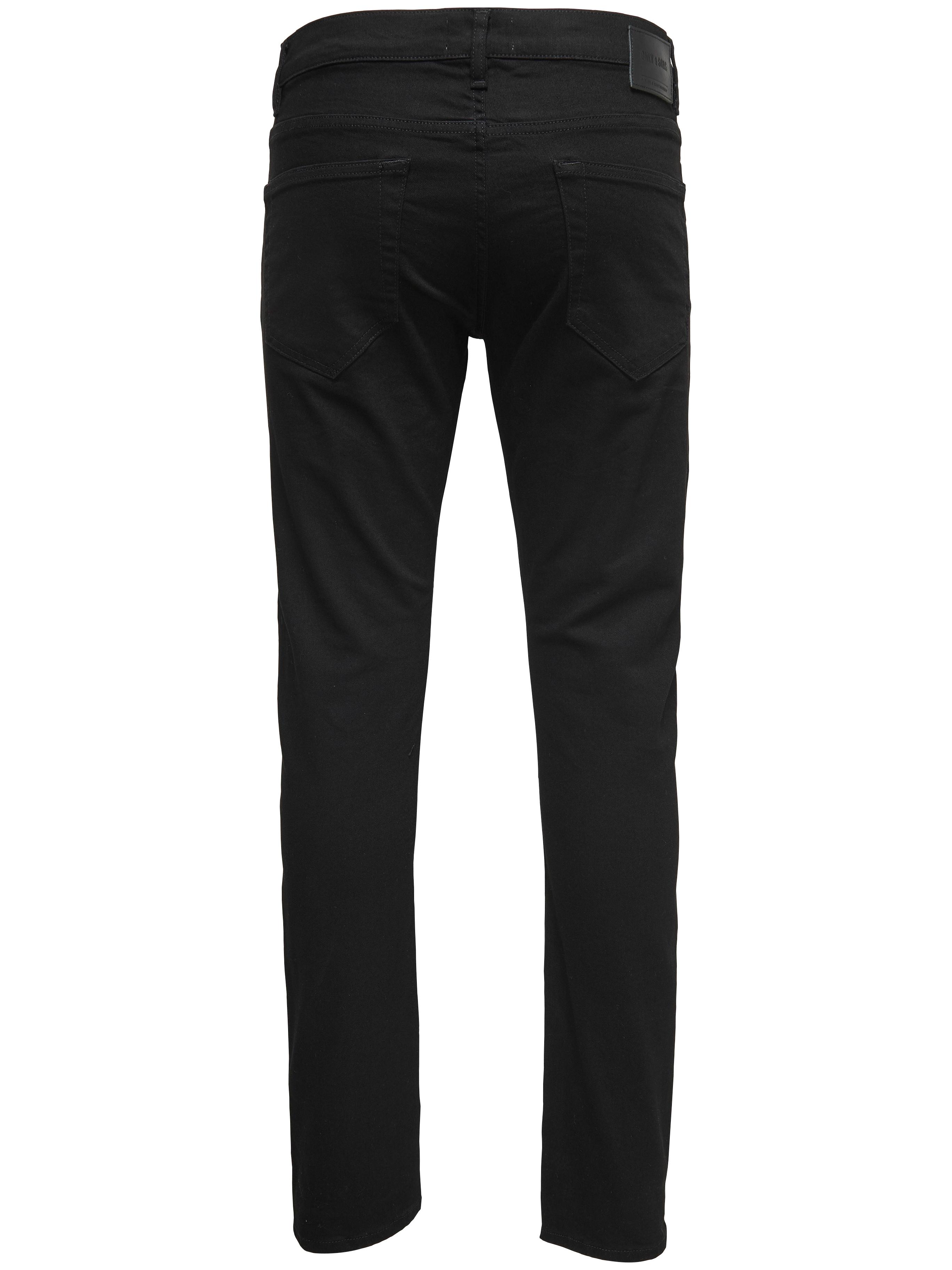 Performance Jeans, Only & Sons, Loom jeans, slim fit, black denim, 30/30