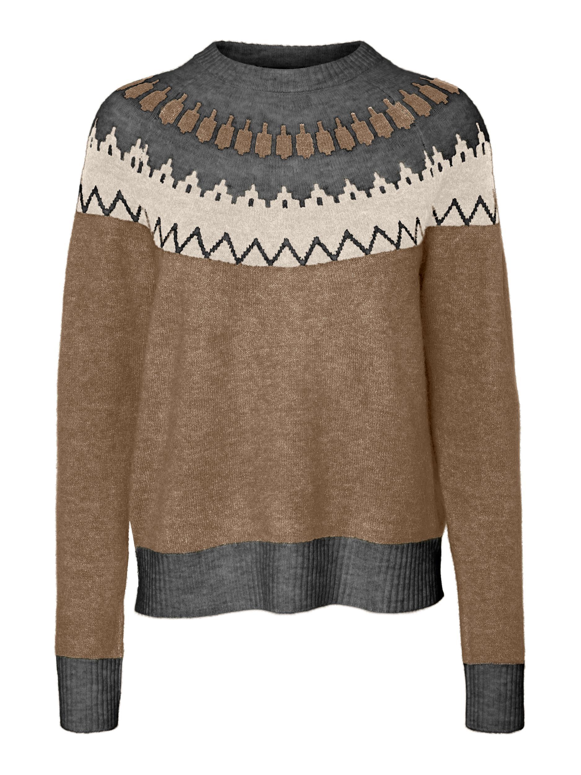 Vero Moda Simone Nordic bluse, sepia tint, small