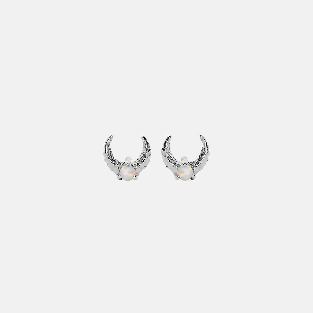 Maanesten Nynette øreringe, sølv
